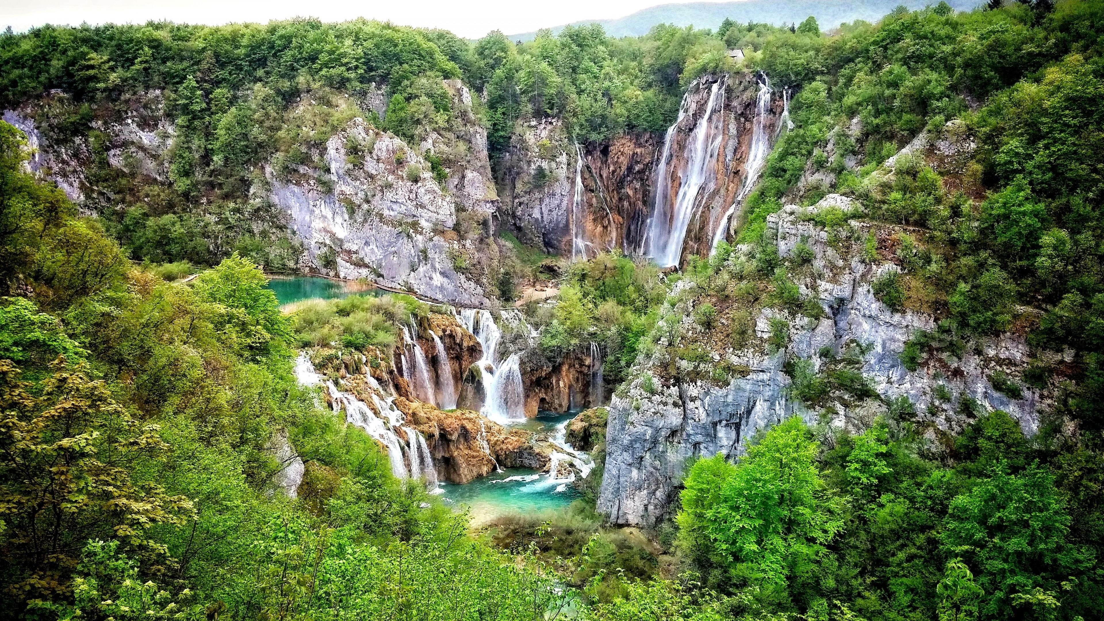 Waterfalls At Plitvice Lakes National Park ⛰ Wallpapers