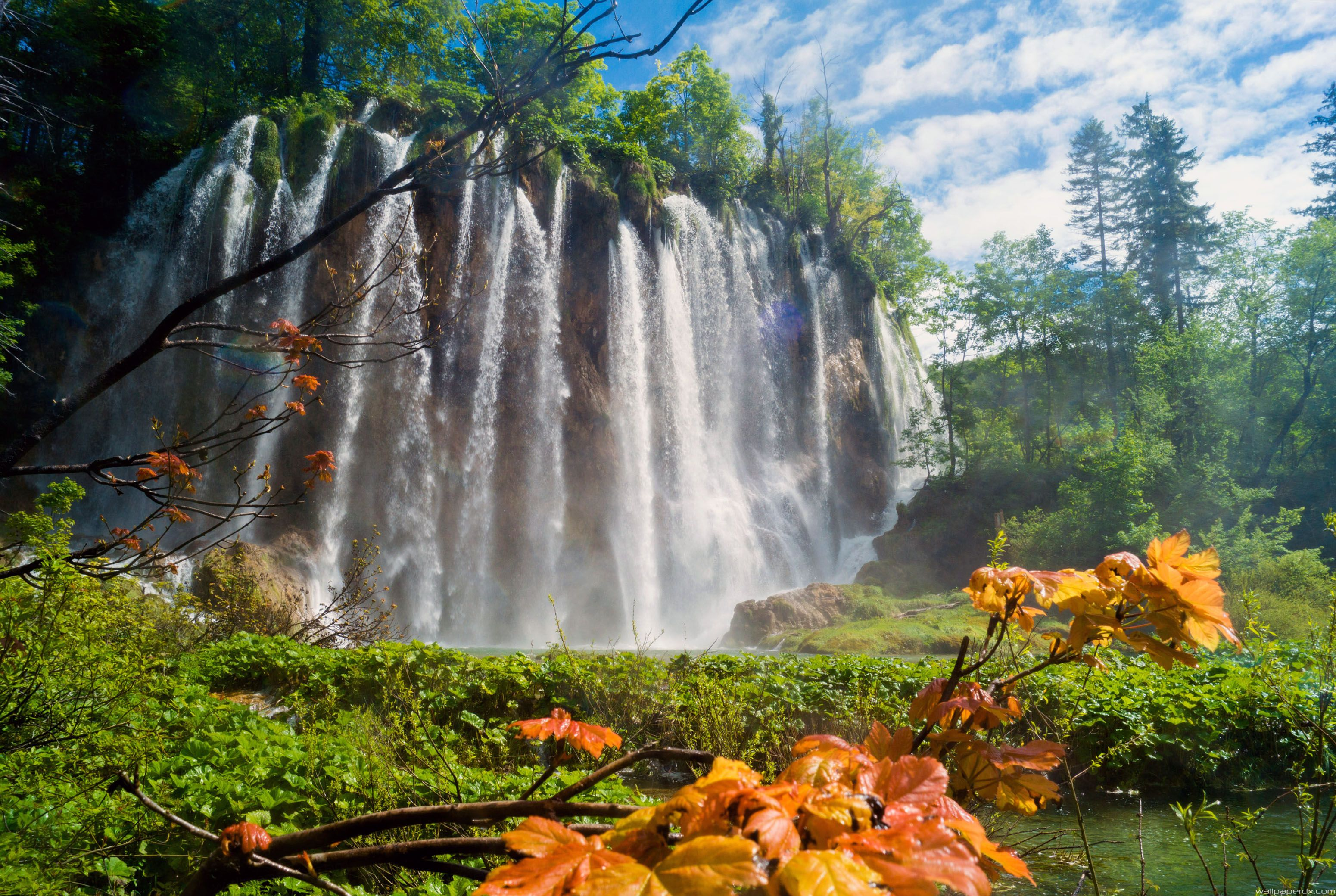 waterfall in plitvice lakes national park full hd wallpapers