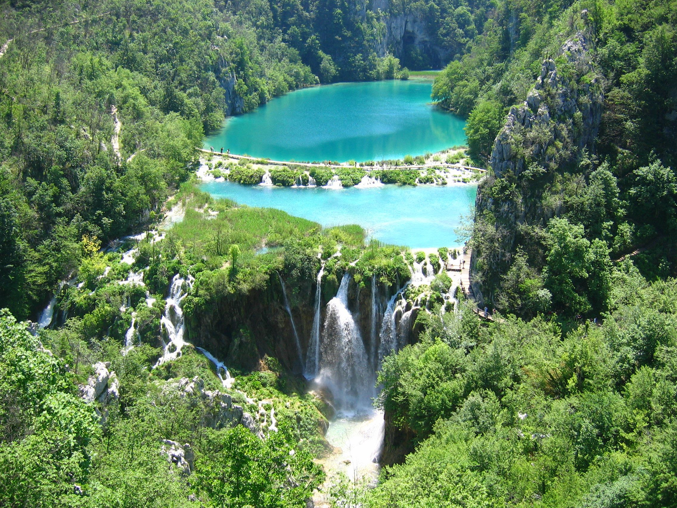 Plitvice Lakes National Park bird's eye view wallpapers