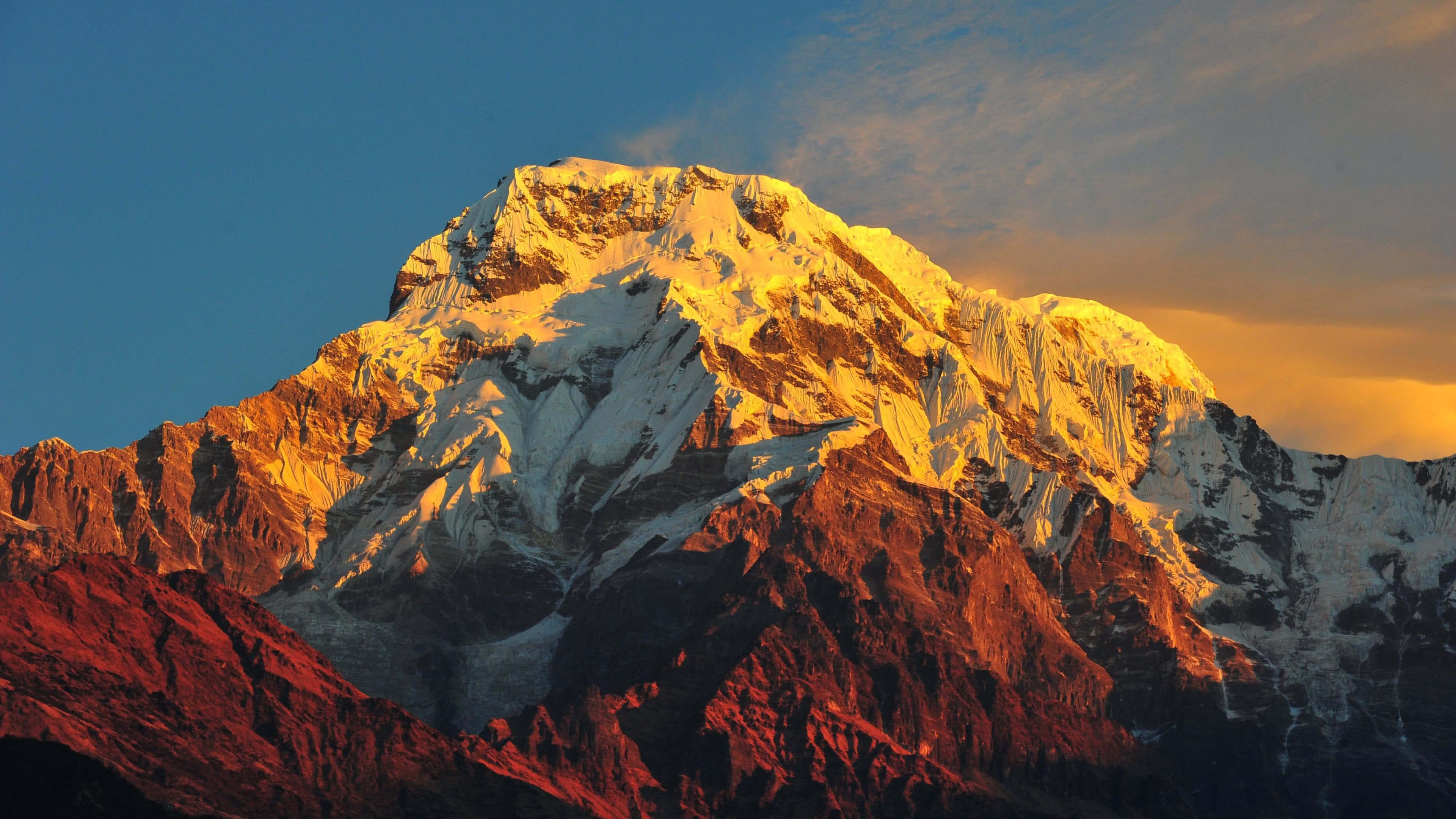 Annapurna Massif Himalayas Nepal UHD 4K Wallpaper