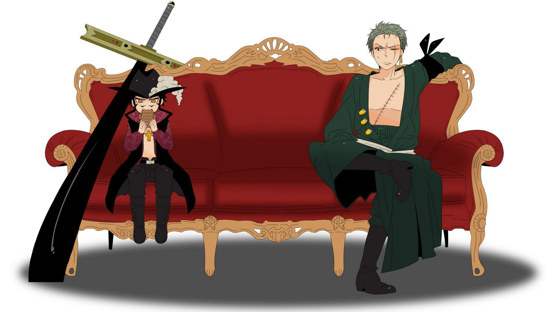 Anime One Piece Zoro Roronoa Dracule Mihawk Wallpapers