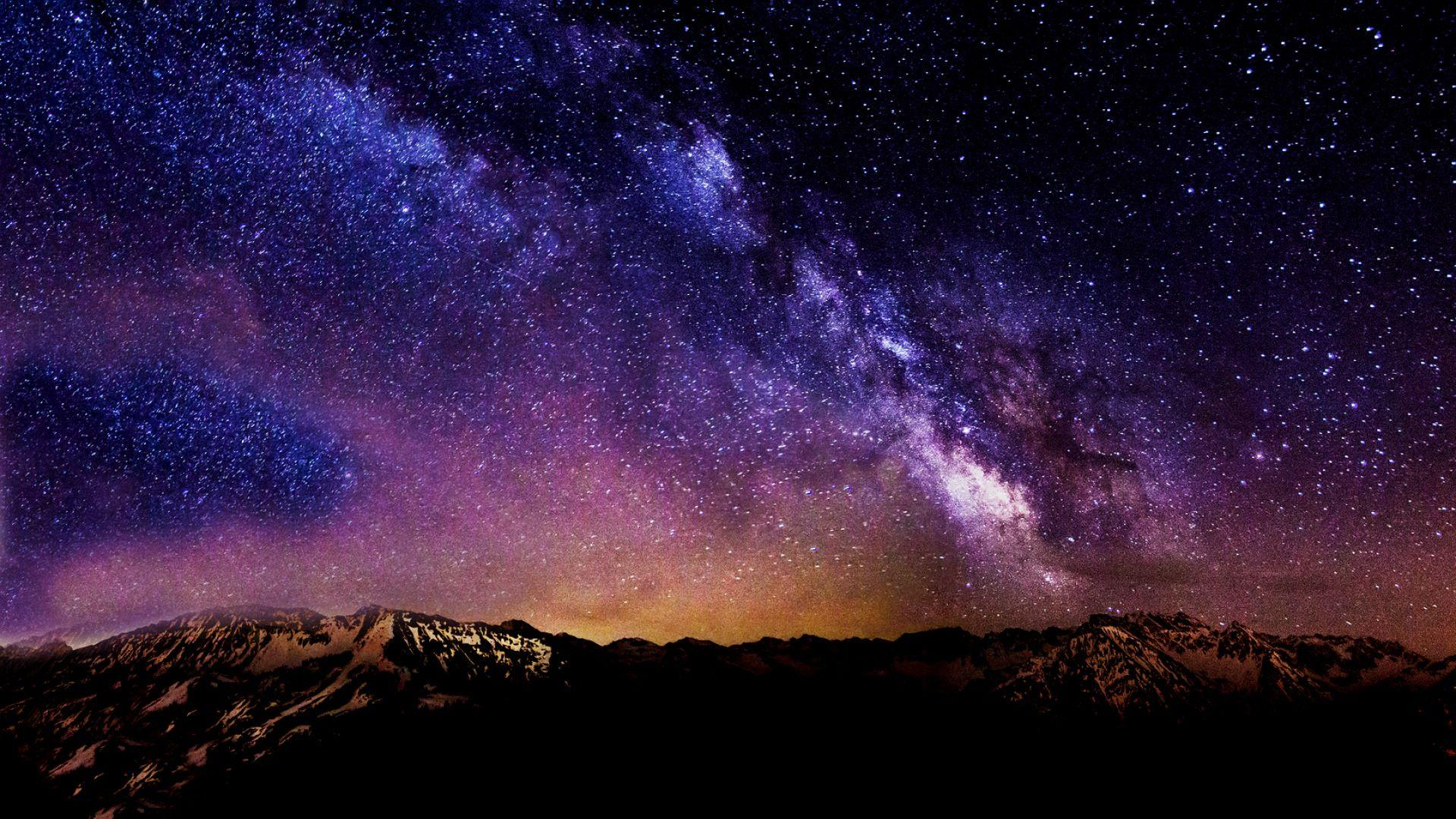 Starry Night Sky Wallpapers HD - Wallpaper Cave