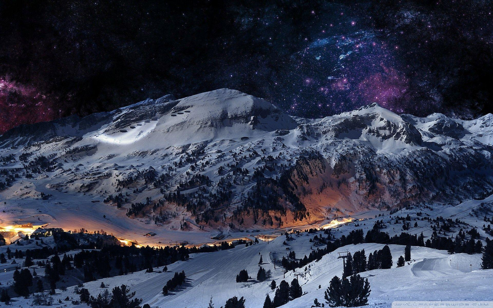 Snow Night Wallpapers Hd Wallpaper Cave