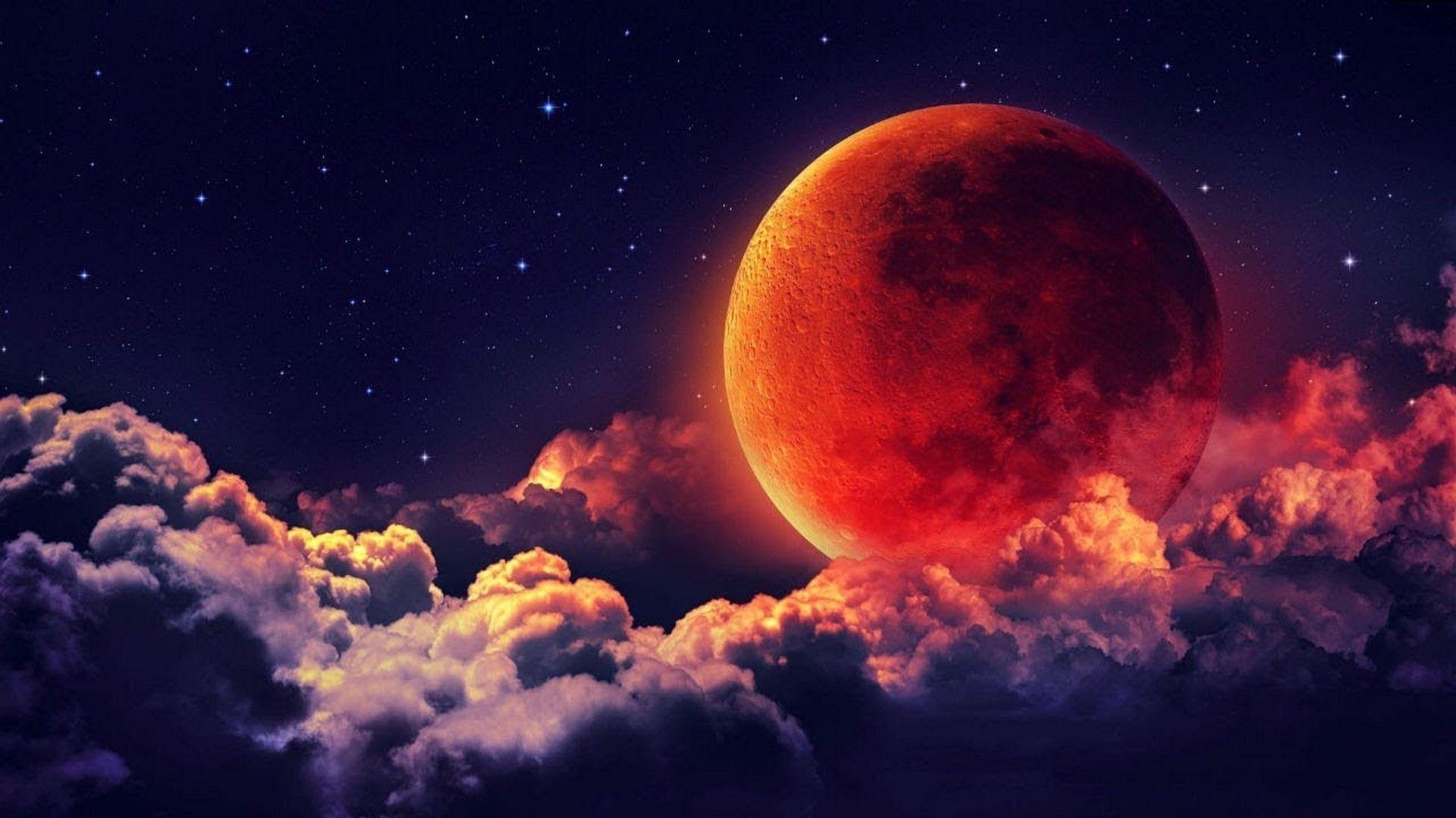 Red Moon Wallpaper: Wallpapers Moon