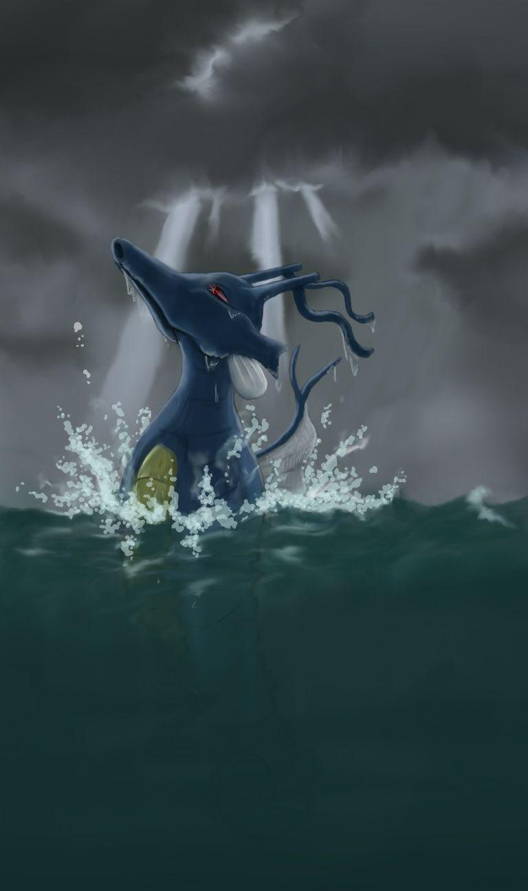 Kingdra...I would love it if you were real. Gorgeous artwork