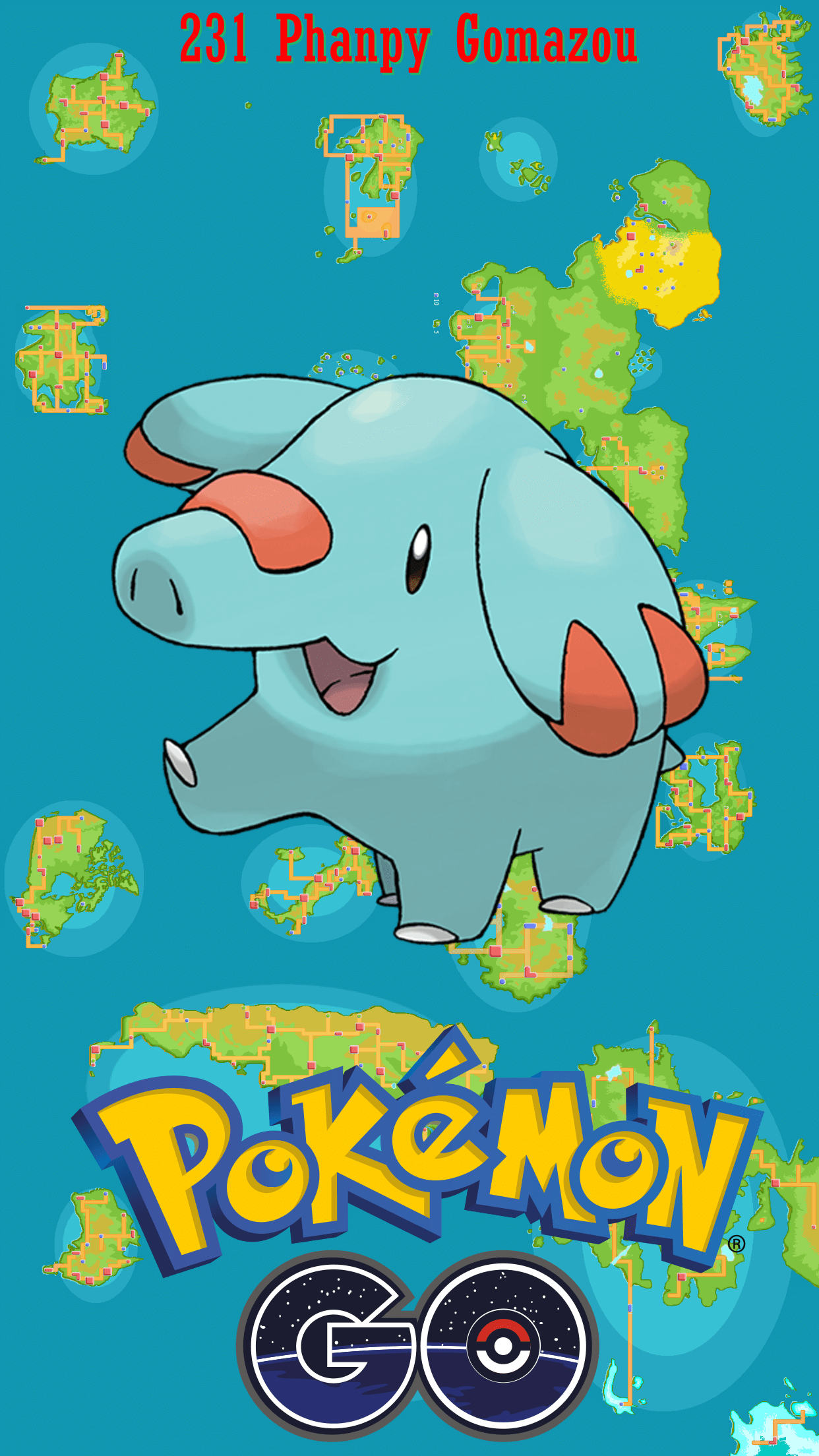 231 Street Map Phanpy Gomazou | Wallpaper