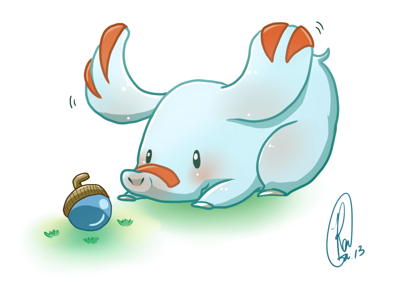 "pokedump: "" 231 - Phanpy It swings its long snout around playfully ..."
