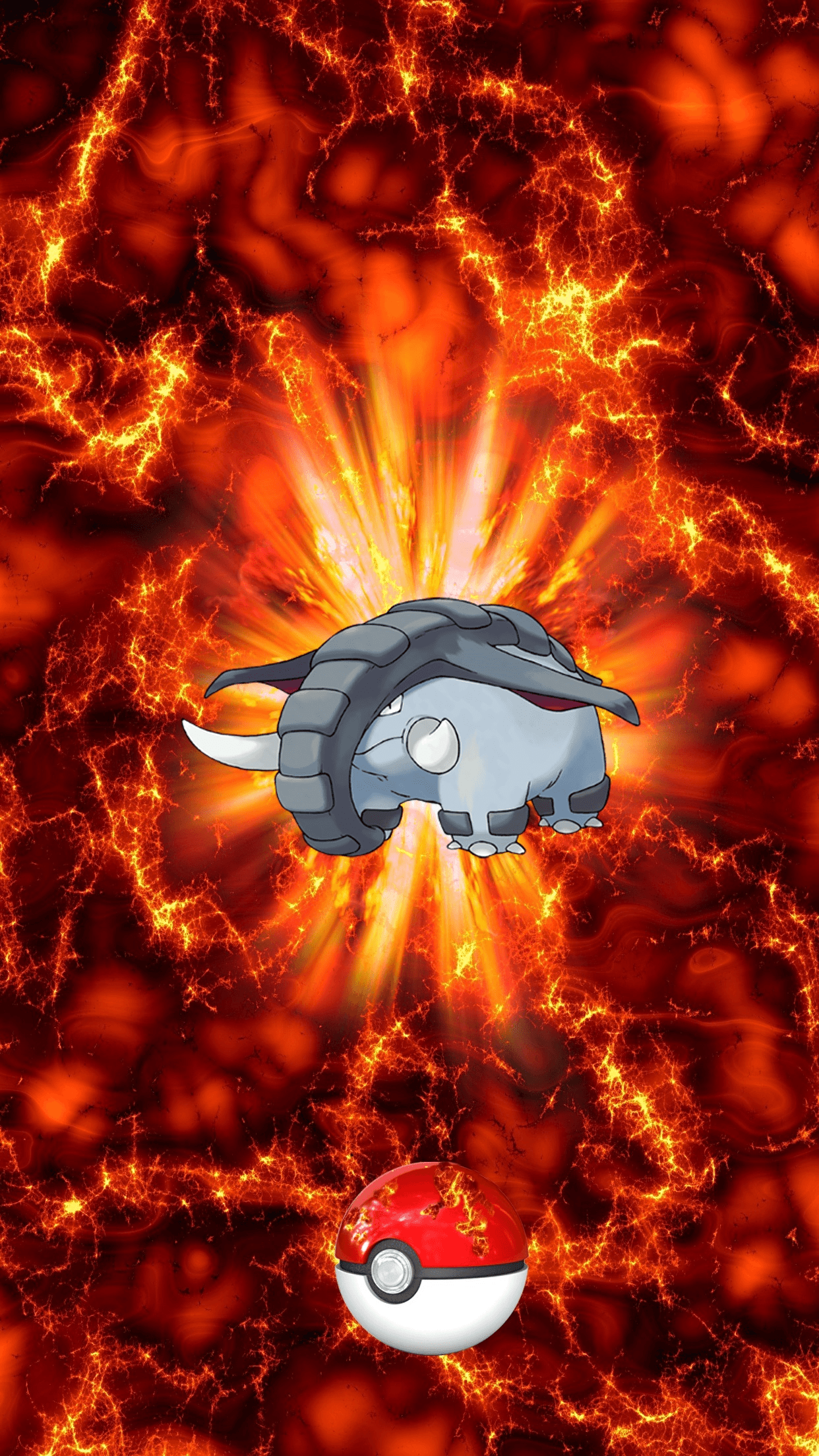 232 Fire Pokeball Donphan Donfan 21 Phanpy | Wallpaper