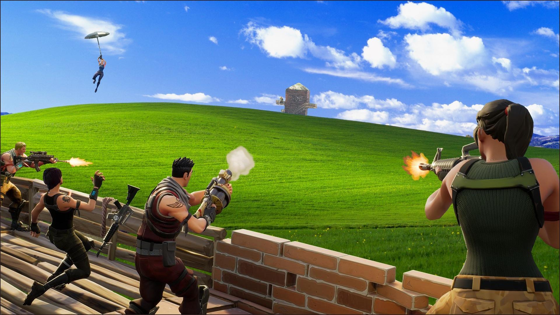 Fortnite Meets Windows XP : FortNiteBR