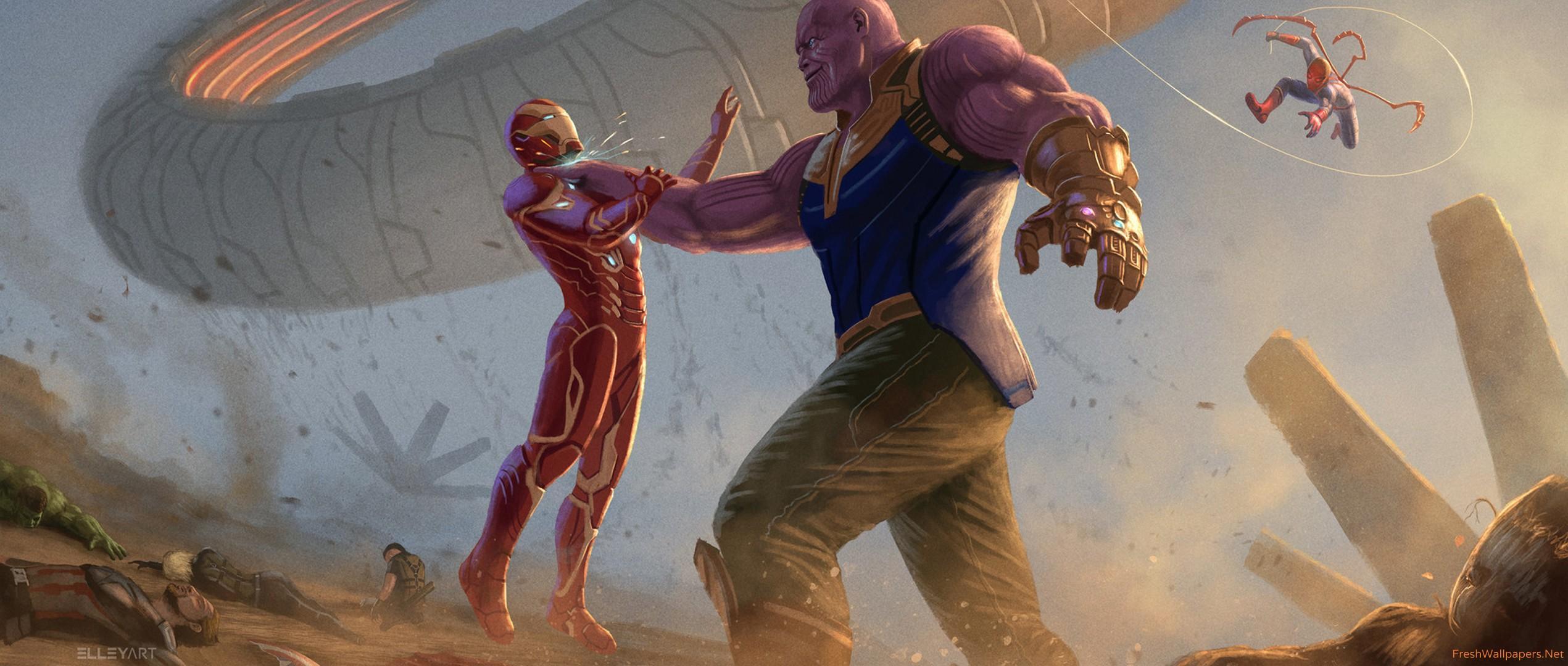 Wallpaper Thanos Avengers Infinity War Artwork Hd: Iron Man Infinity War Wallpapers