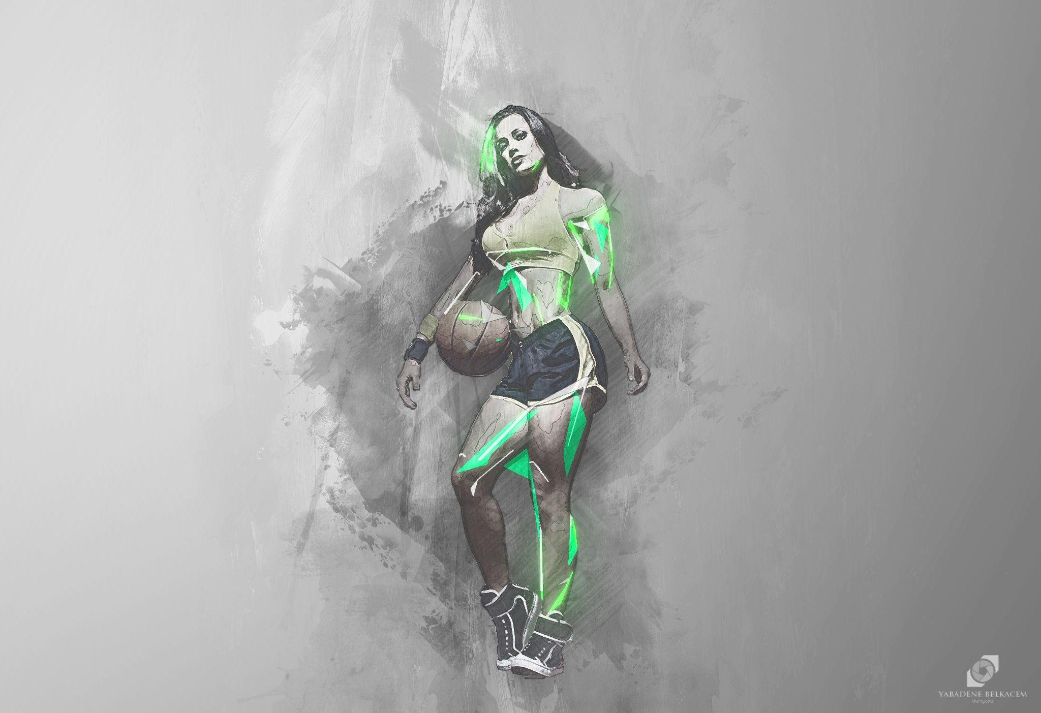 Wallpapers : drawing, illustration, women, sport, abstract, artwork