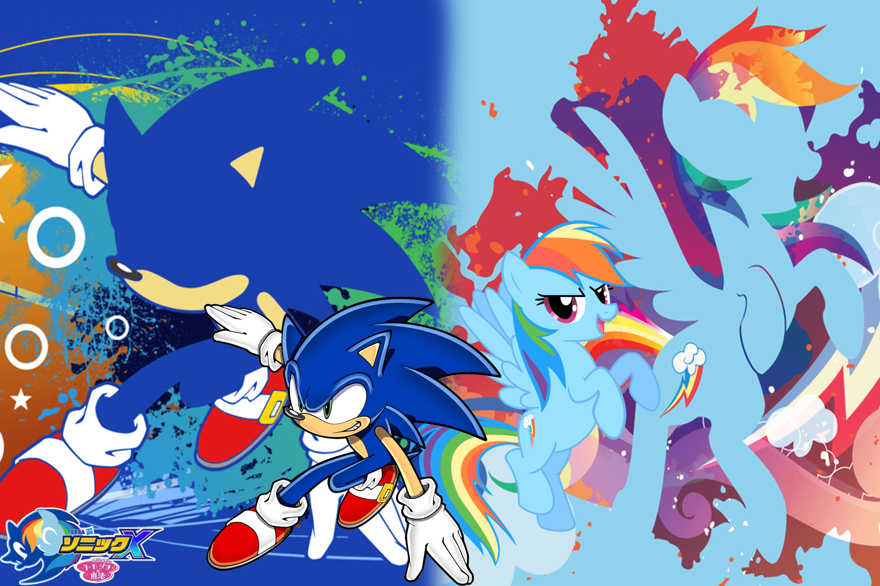sonic and my little pony new wallpapers 2 by trungtranhaitrung on