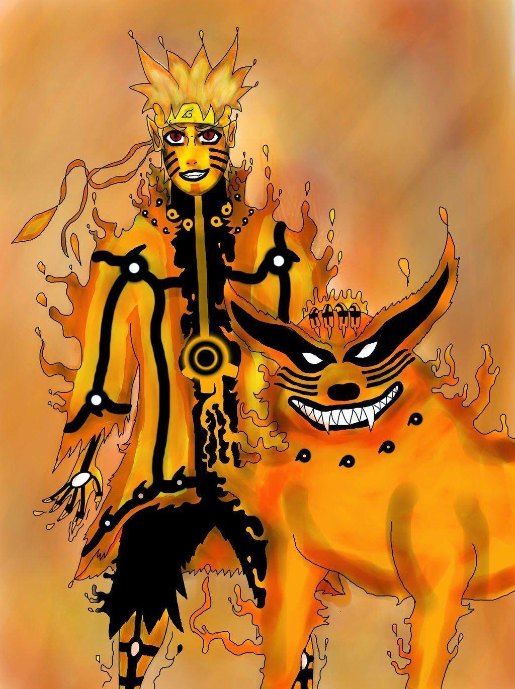 Naruto Bijuu Mode Wallpapers Hd Wallpaper Cave