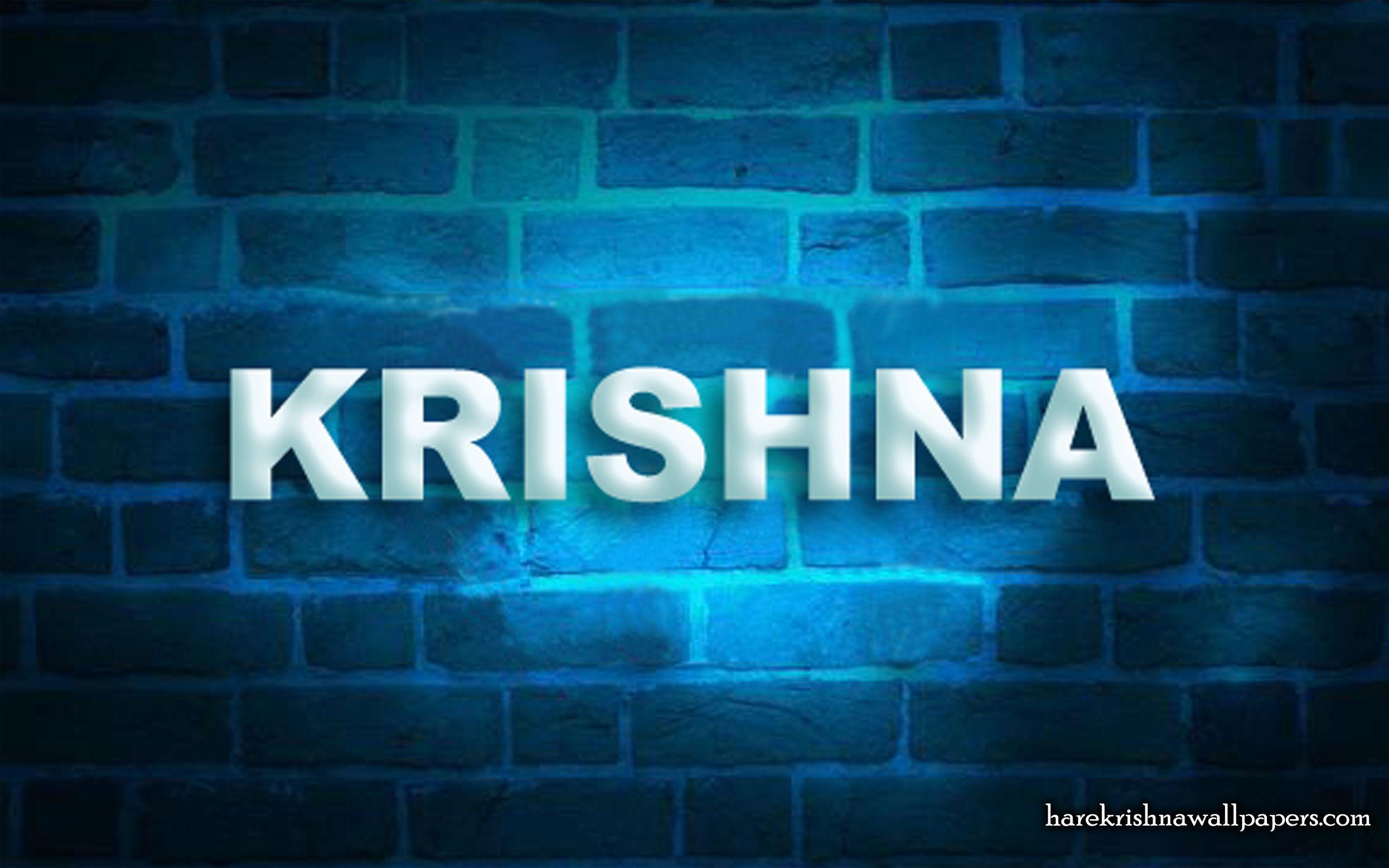 3d Krishna Name Wallpapers Wallpaper Cave