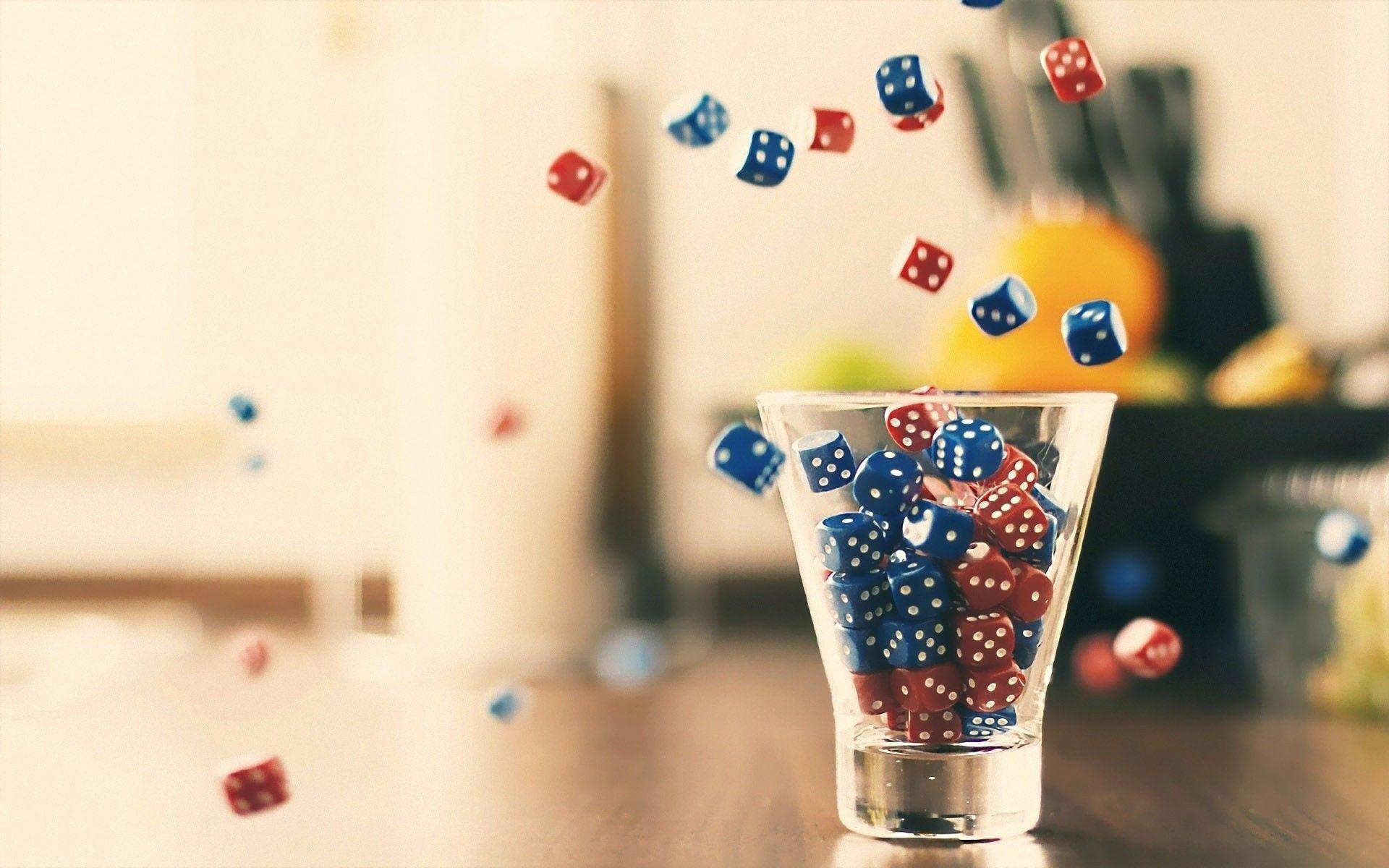 Dice glass lucky wallpapers