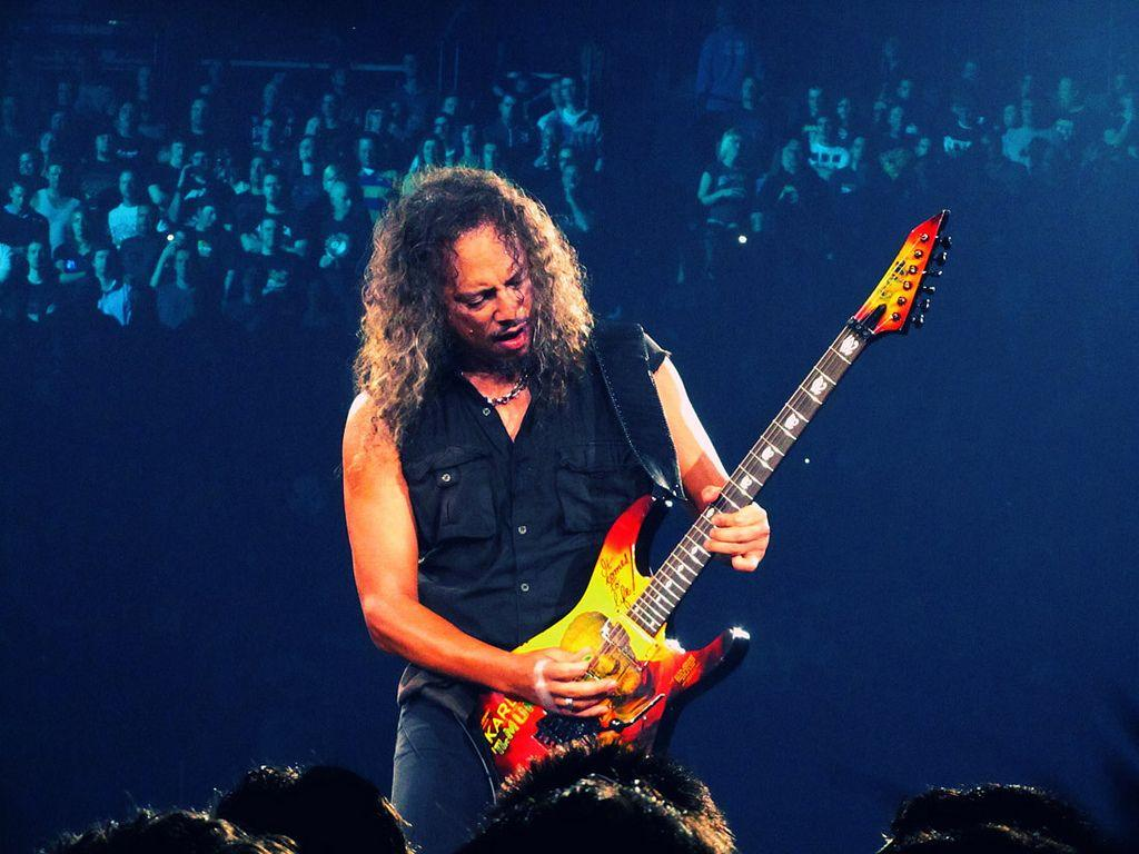 Metallica's kirk hammett and post malone