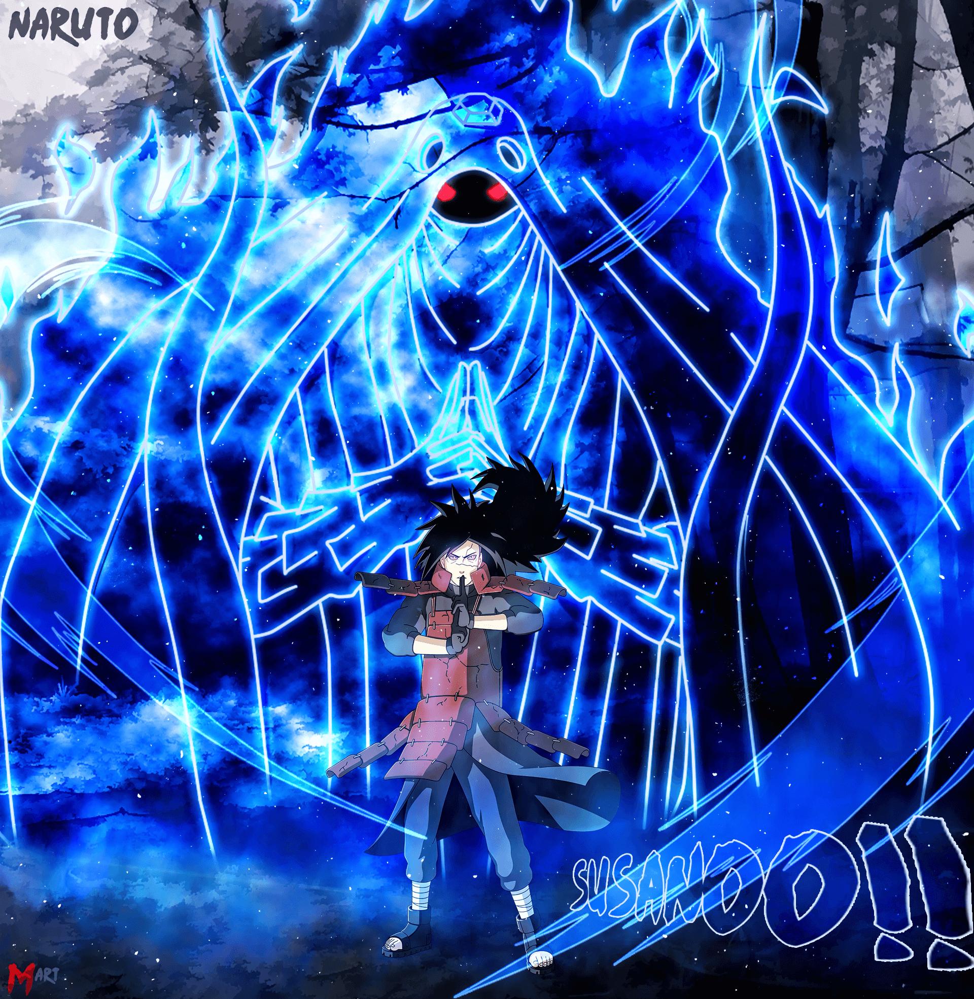 This Is Sasuke Using His Final Susanoo As An Armor Straight Around