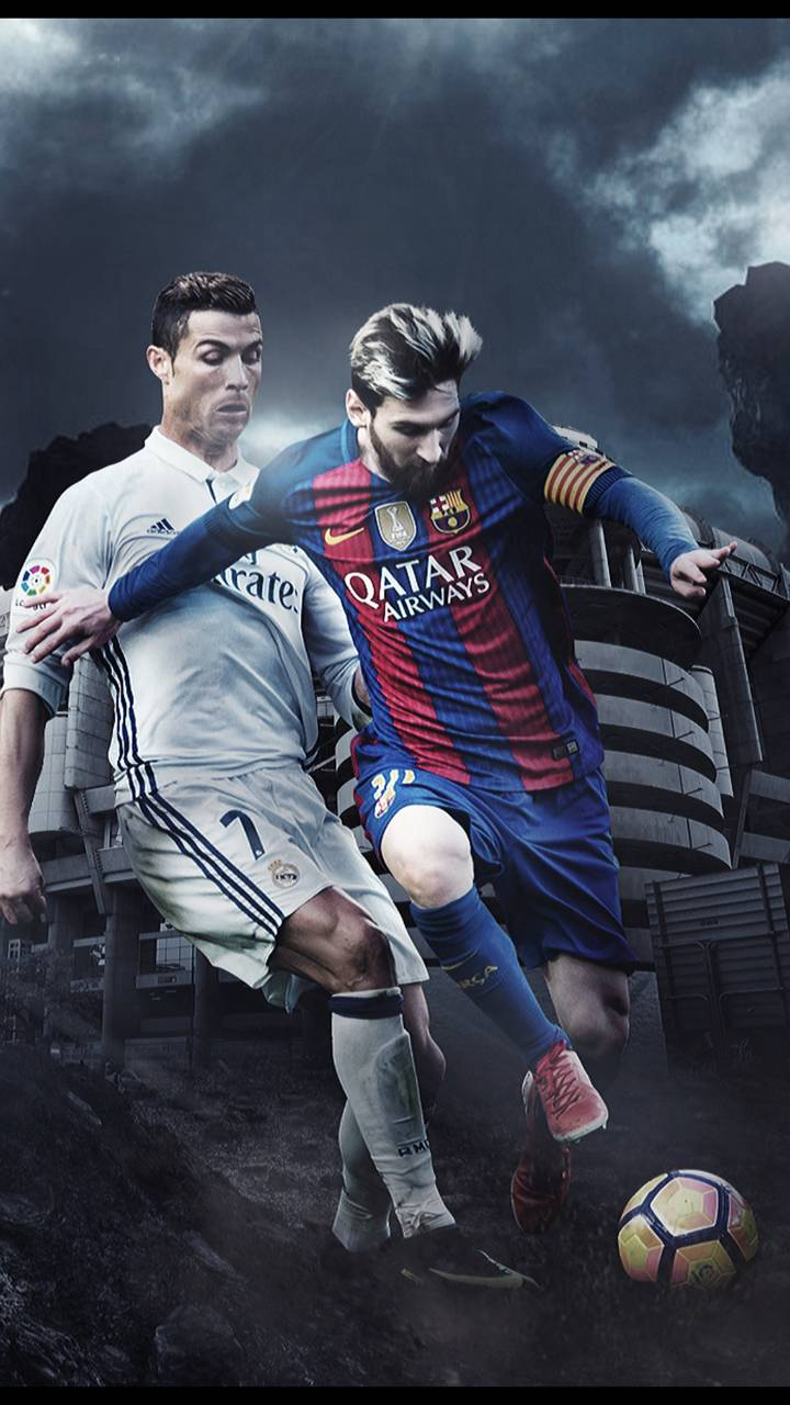 Messi And Ronaldo Wallpapers Wallpaper Cave