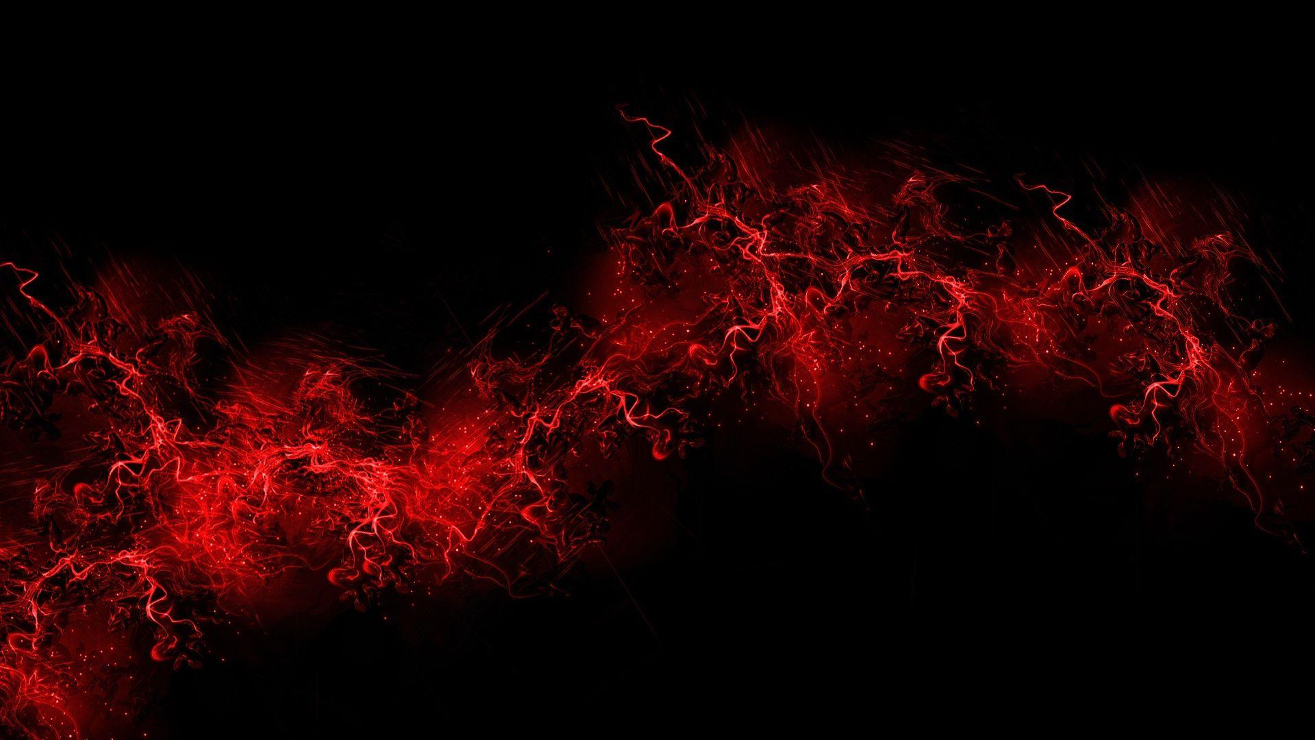 Download Wallpapers 1920x1080 black background, red, color, paint
