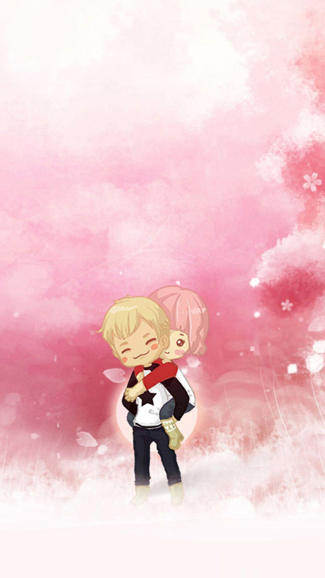 Cute Cartoon Couple Wallpapers For Mobile Wallpaper Cave