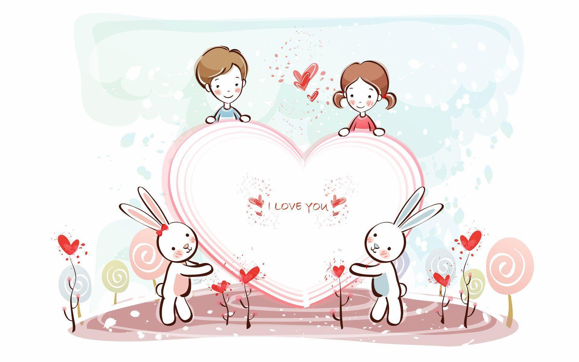 Cute Love Wallpapers For Mobile: Cute Cartoon Couple Wallpapers For Mobile
