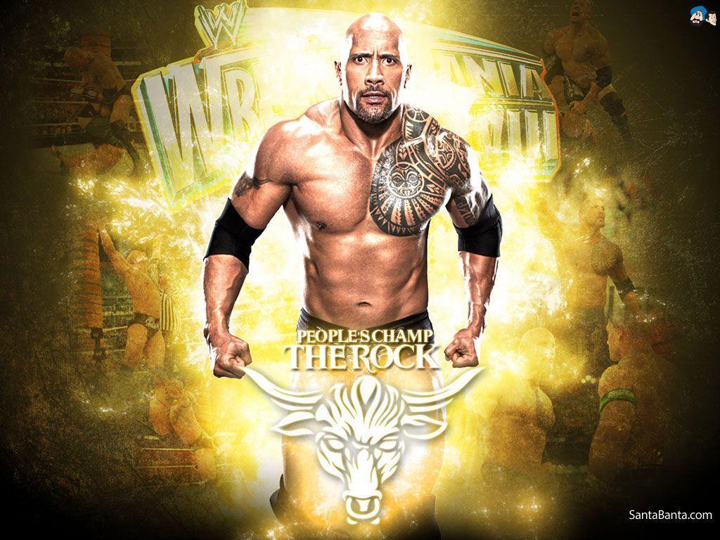 Wwe The Rock Desktop Wallpapers