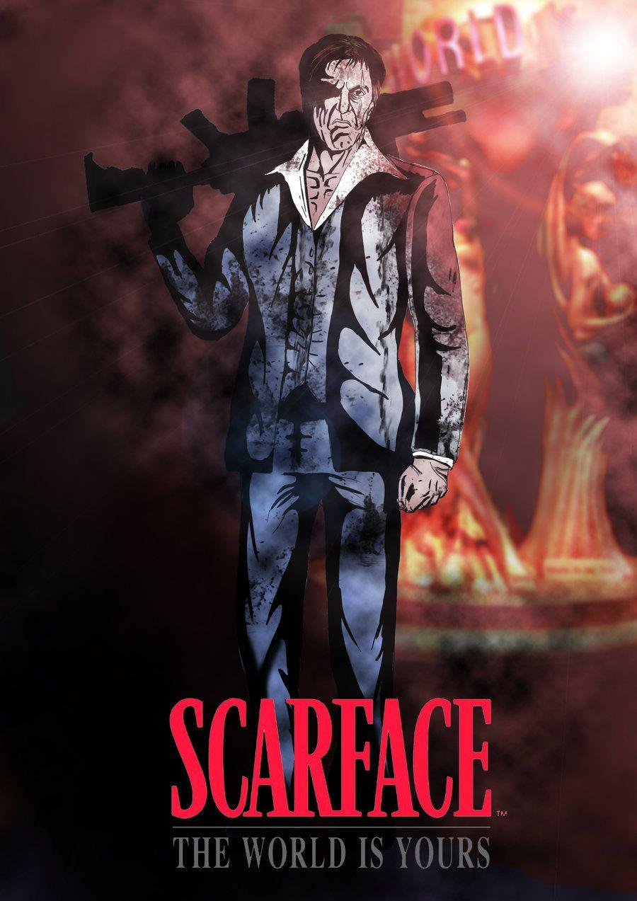 SCARFACE: The World is Yours Colored by PaulVincent on DeviantArt