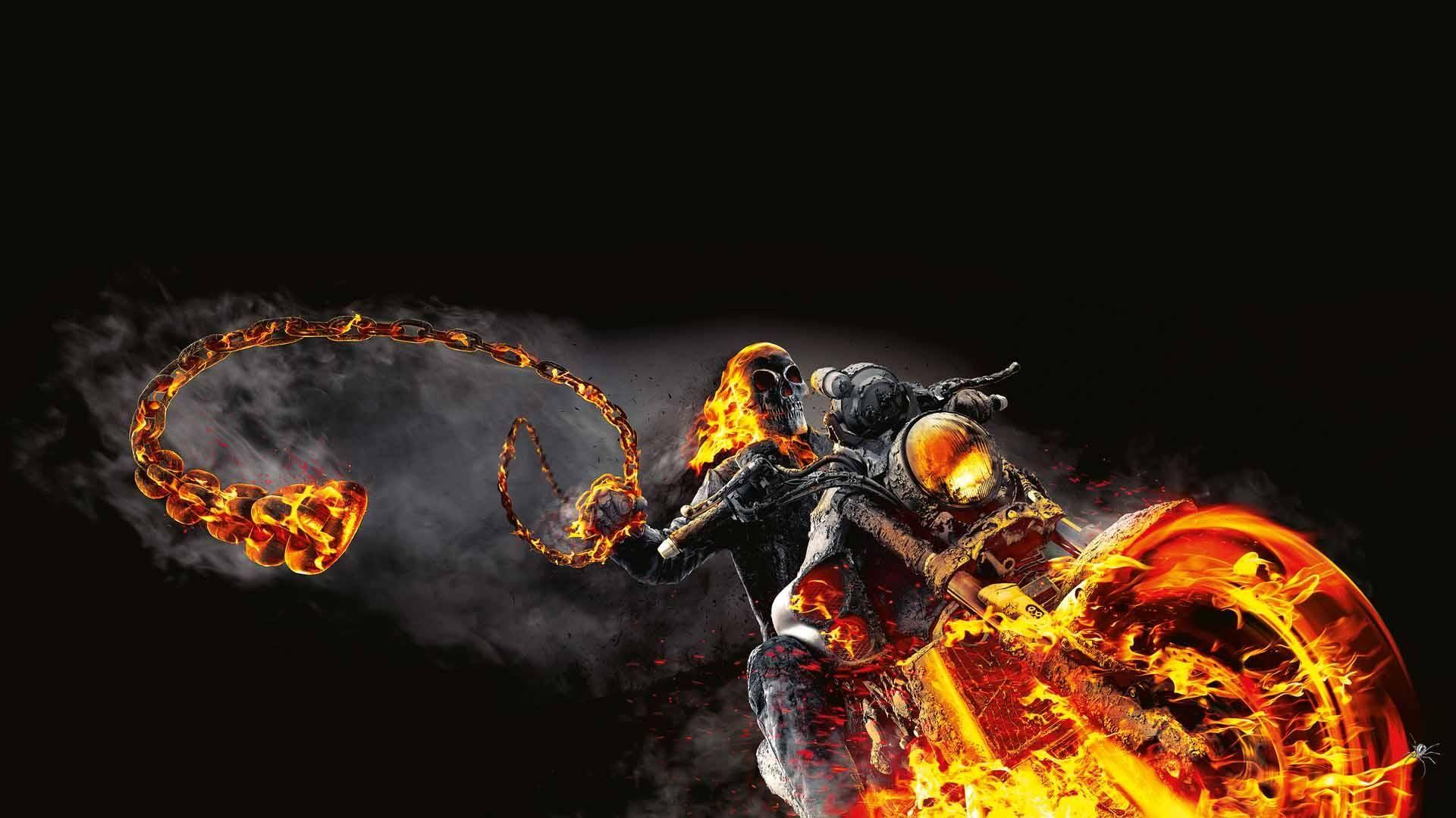 HD Ghost Rider 4K Image – free download