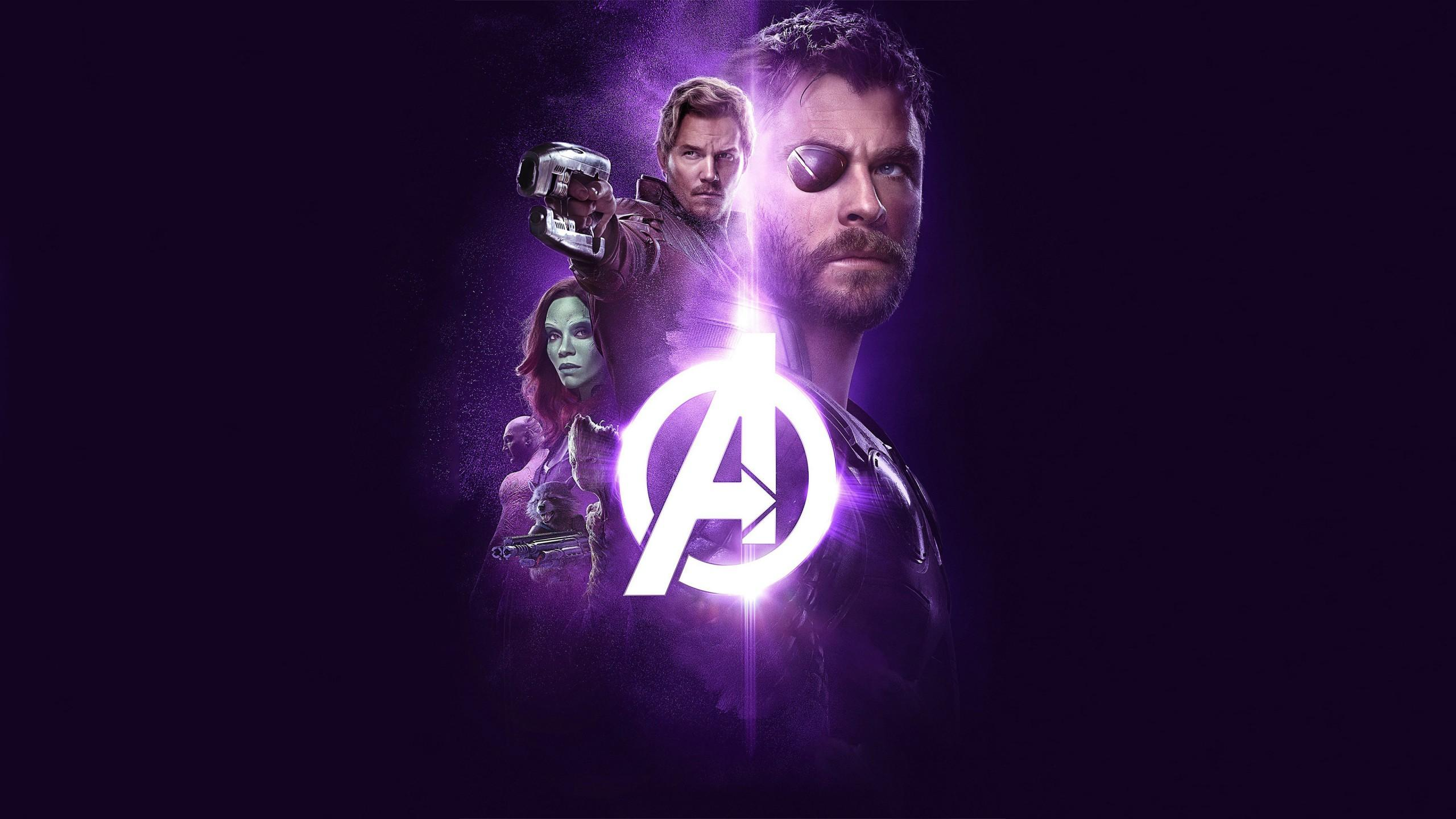 Avengers Infinity War Thor Groot Rocket Star Lord Gamora 4k HD