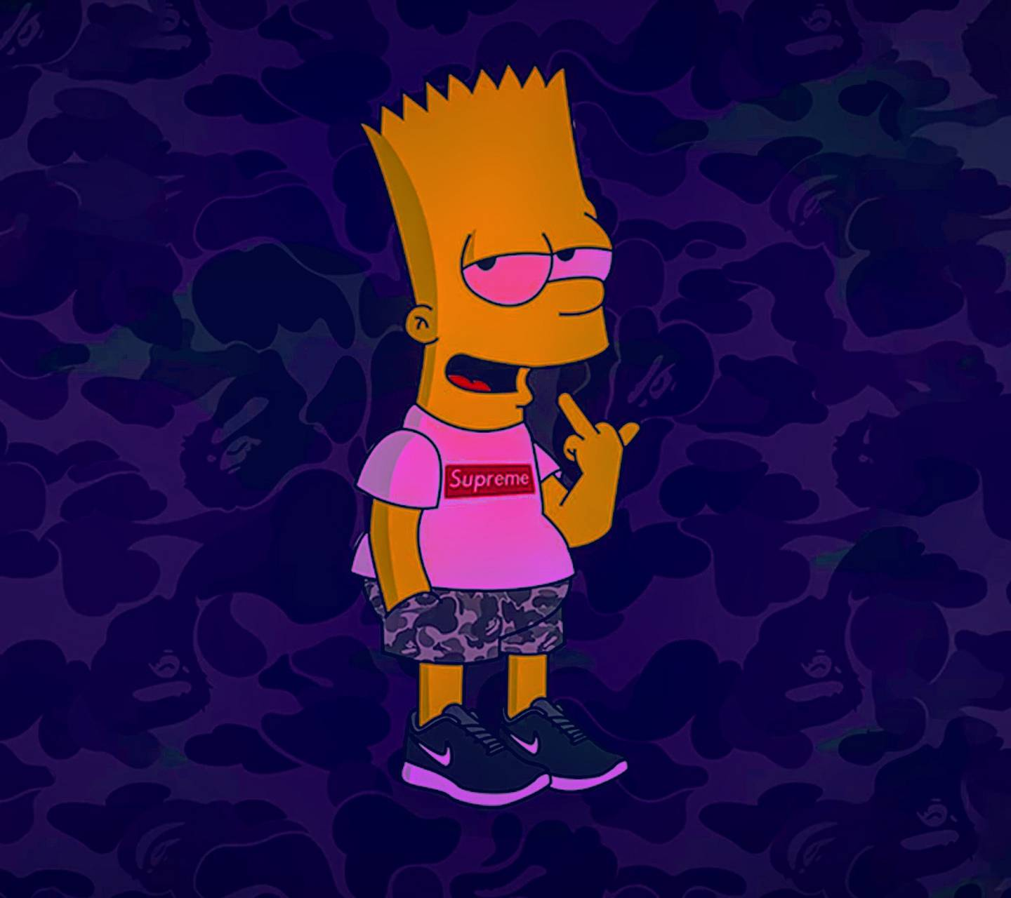 Supreme Bart Wallpapers Wallpaper Cave
