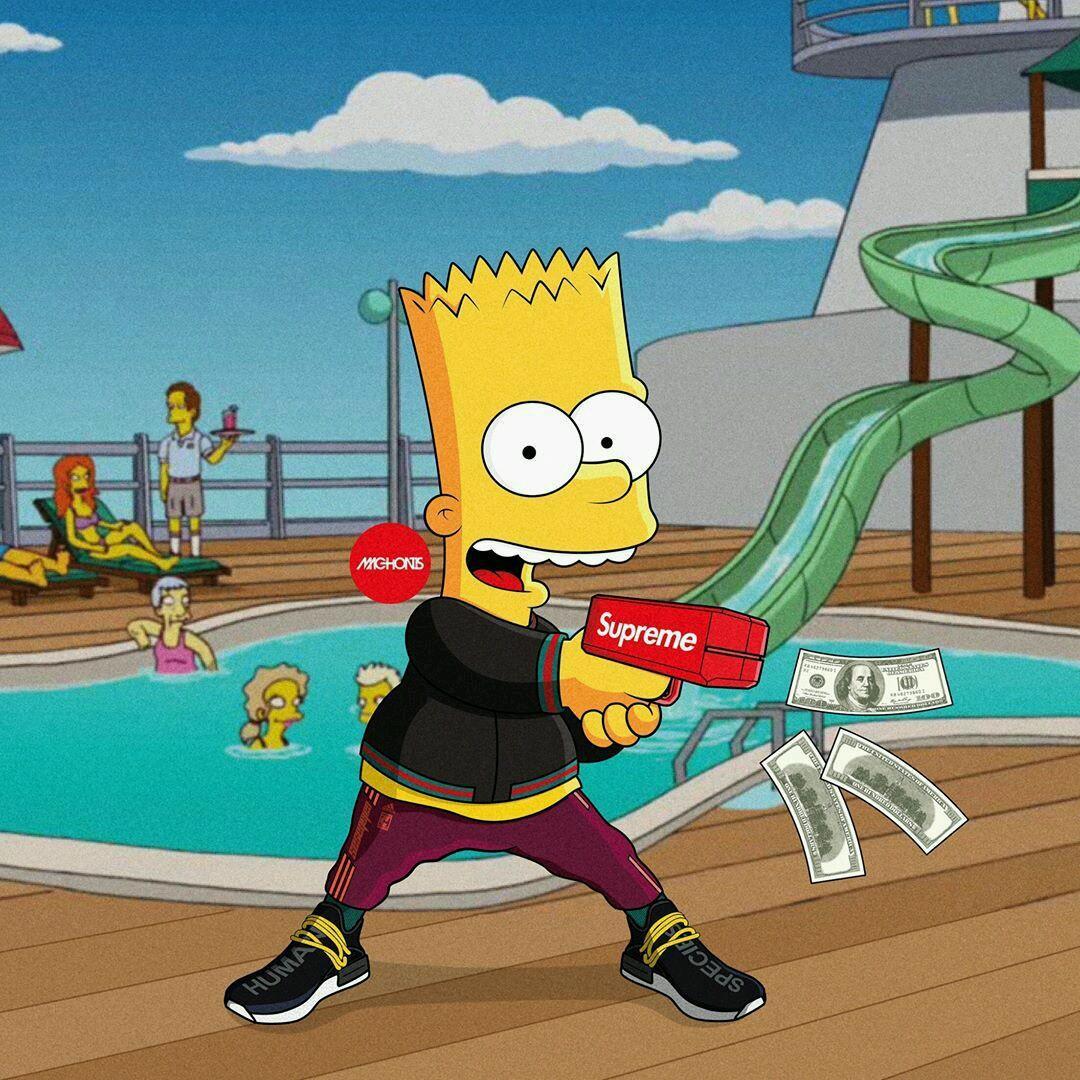 Supreme X Bart Simpson Just Me And Supreme