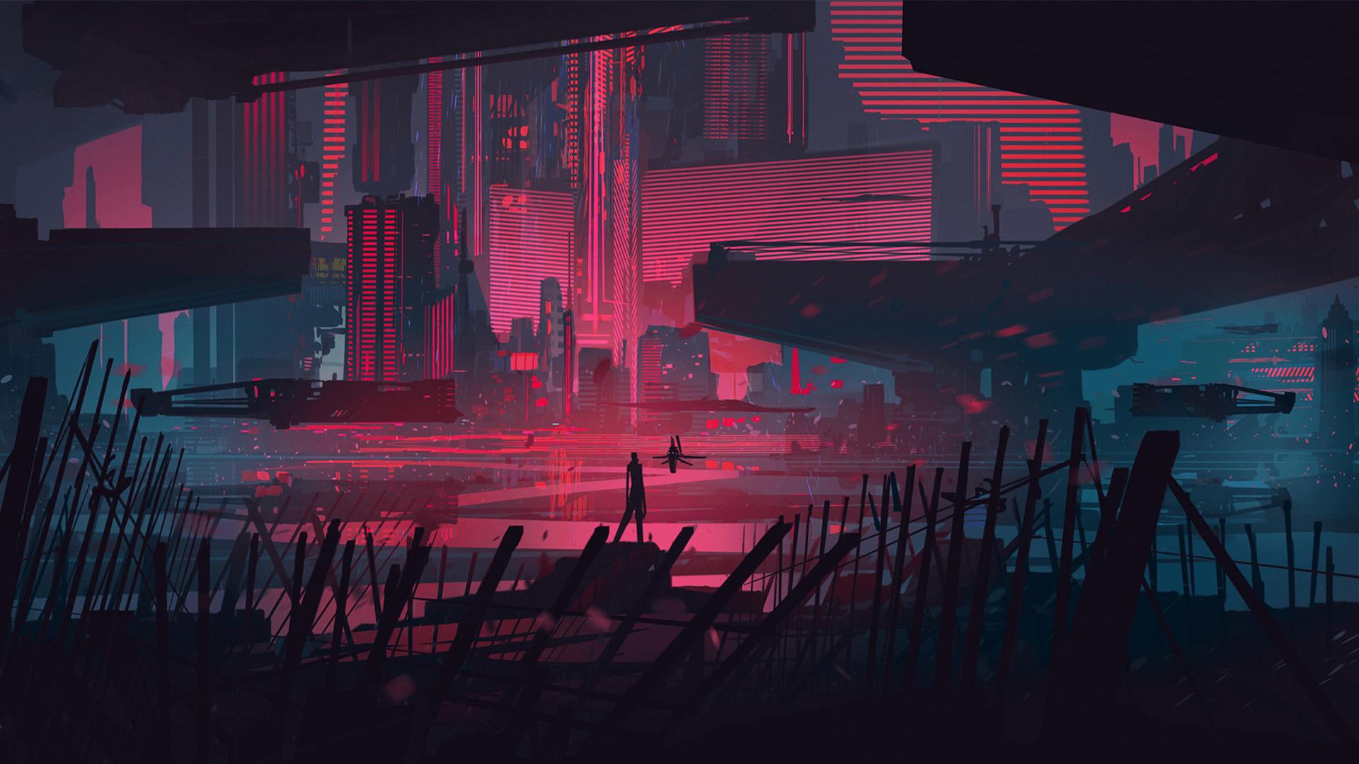 Amazing Cyberpunk Neon City Wallpaper 4K Pics