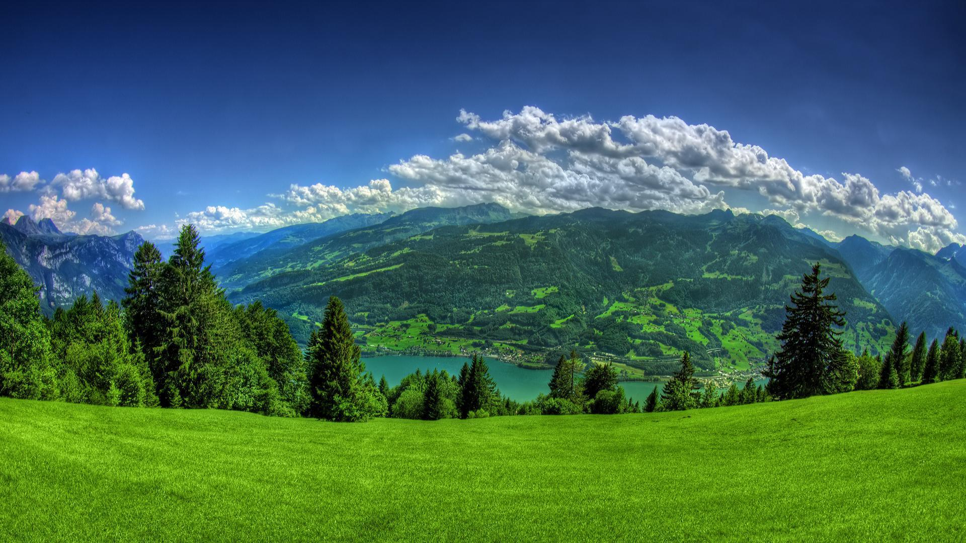 P Hd Image Nature Wallpaper Green Mountain 1080p Of Laptop Images ...