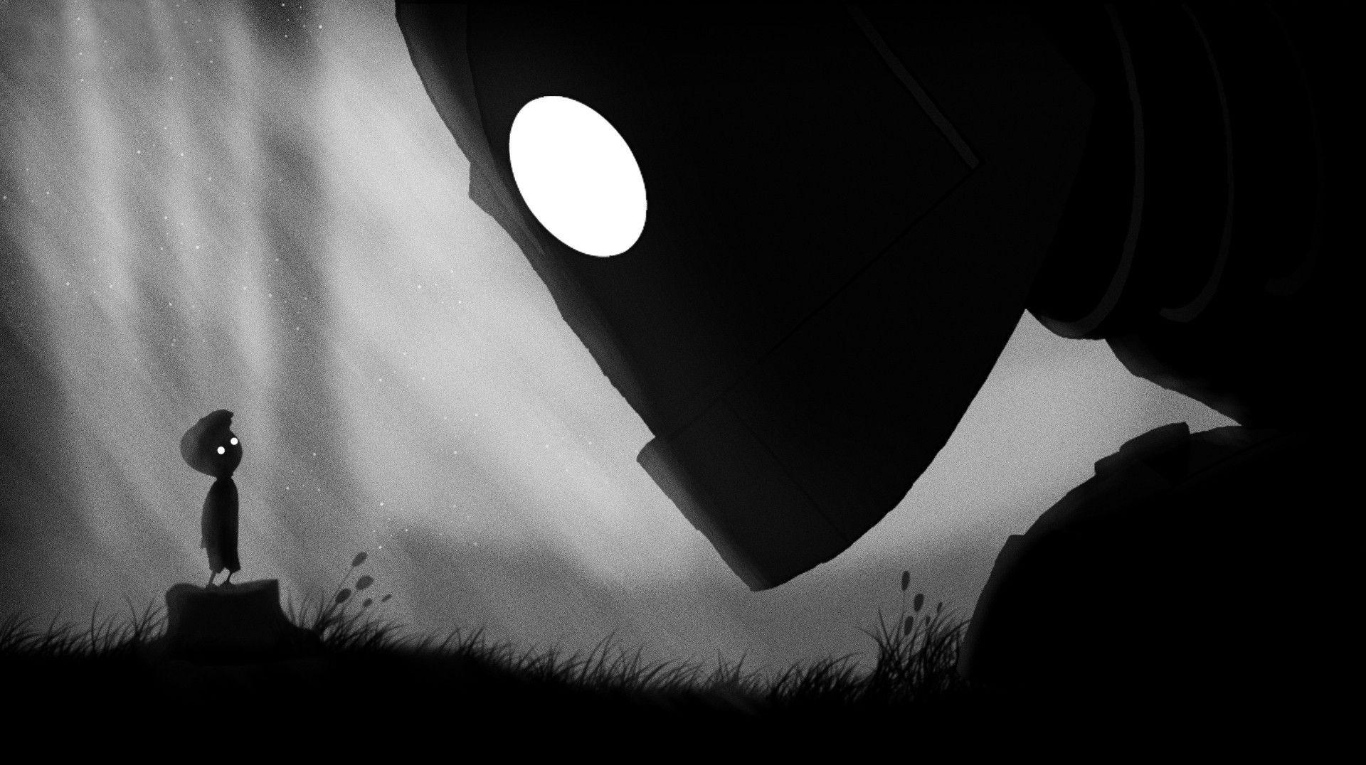 Wallpapers : shadow, silhouette, Limbo, The Iron Giant, light, shape