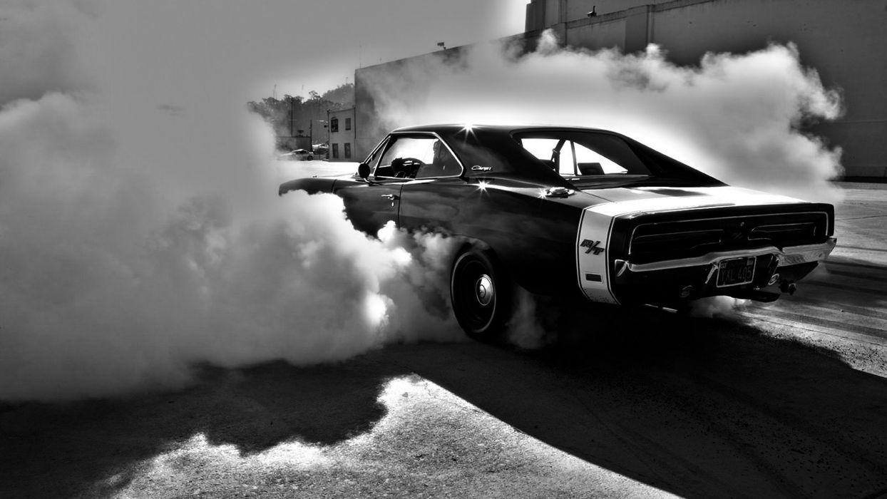Muscle cars vehicles burnout Dodge Charger wallpapers