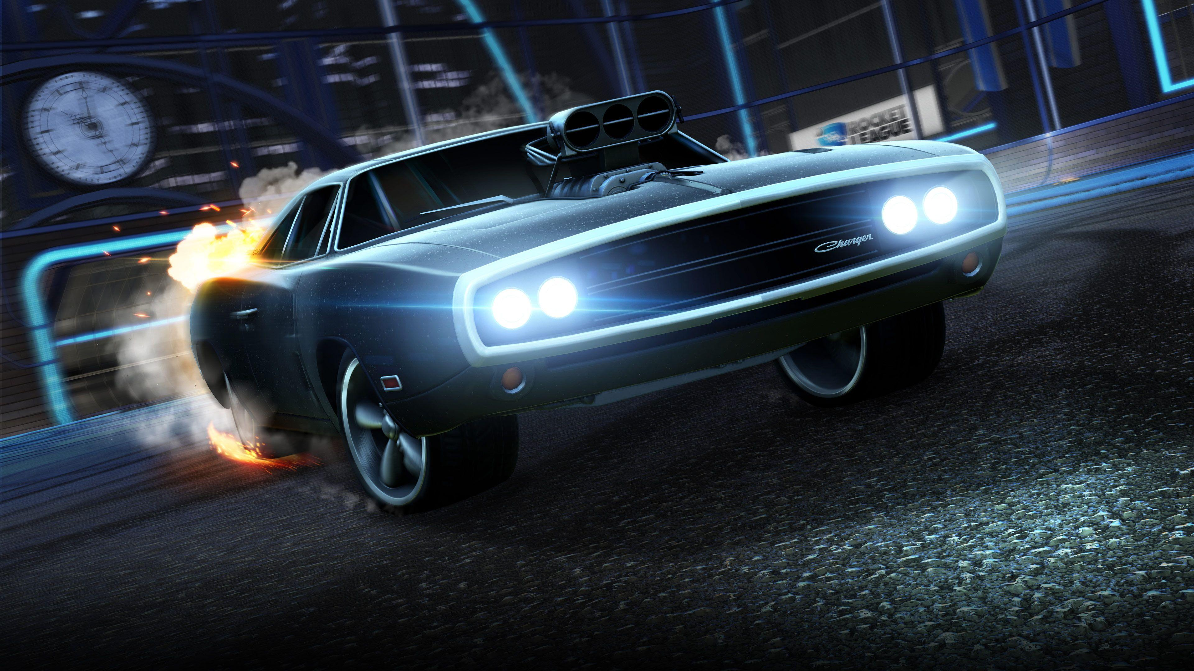 Wallpapers Dodge Charger, Fast & Furious, Rocket League, 4K, Games