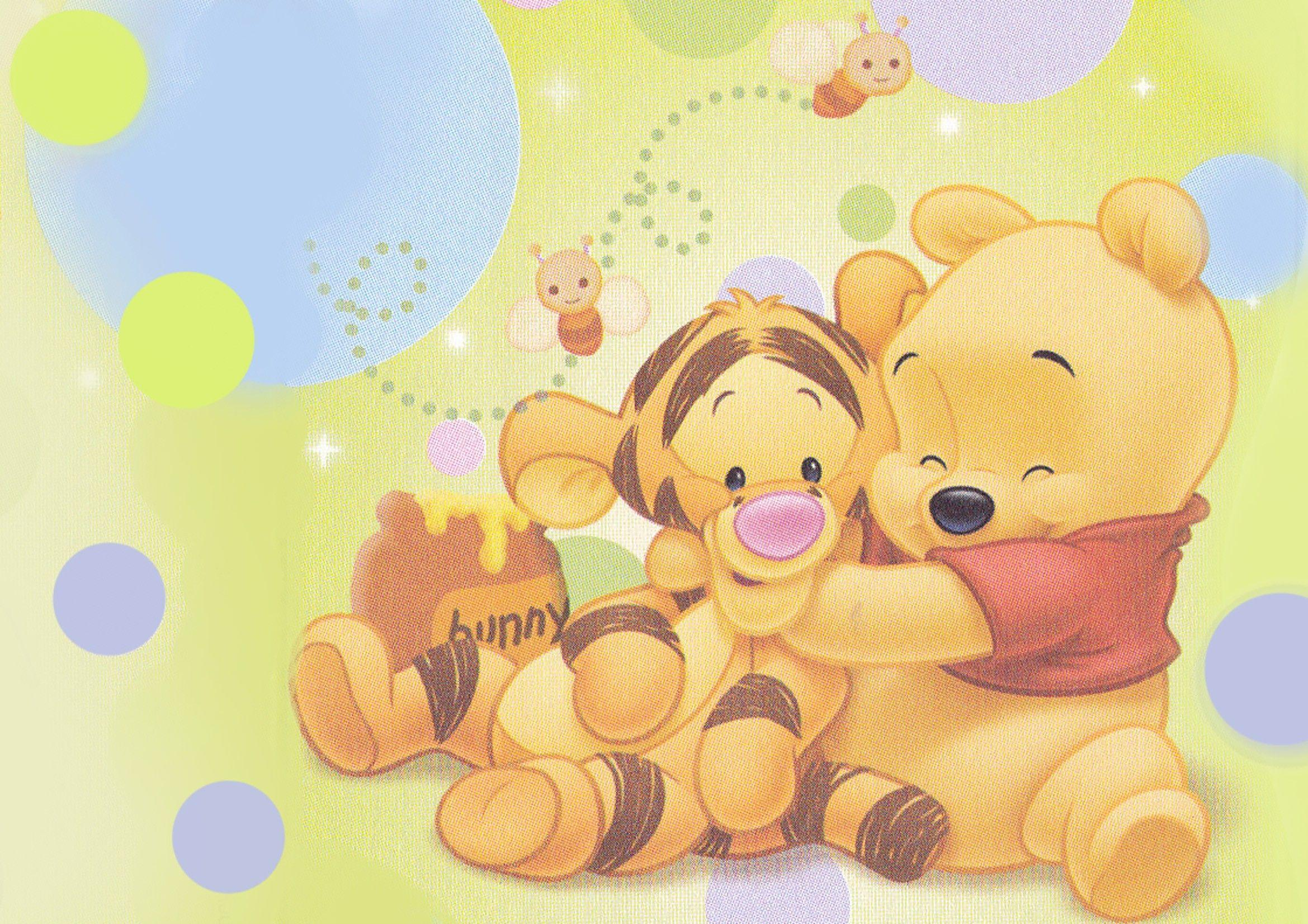 This is a graphic of Priceless Winnie the Pooh as a Baby