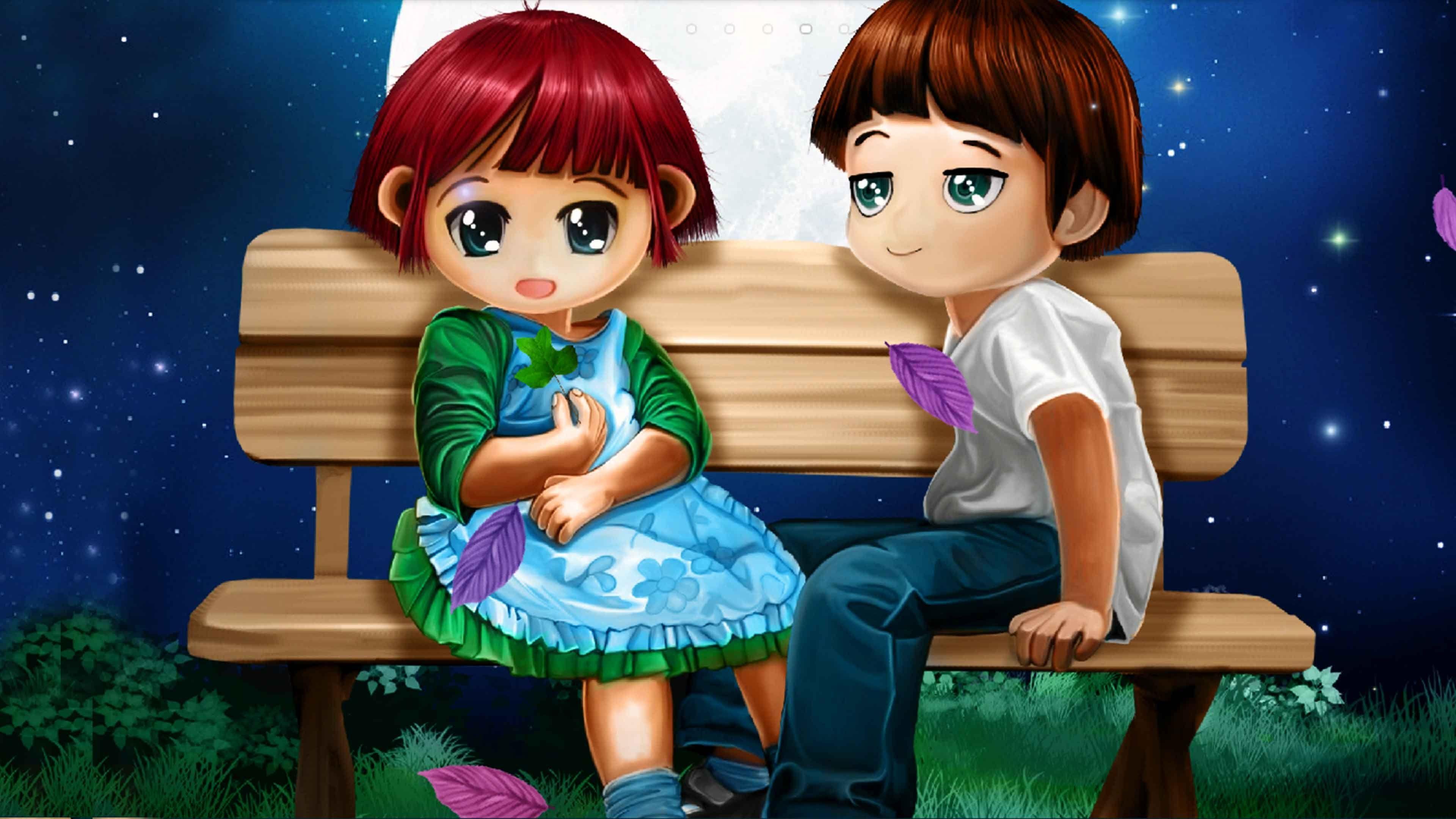 Luxury cute animated couple wallpaper anime wp