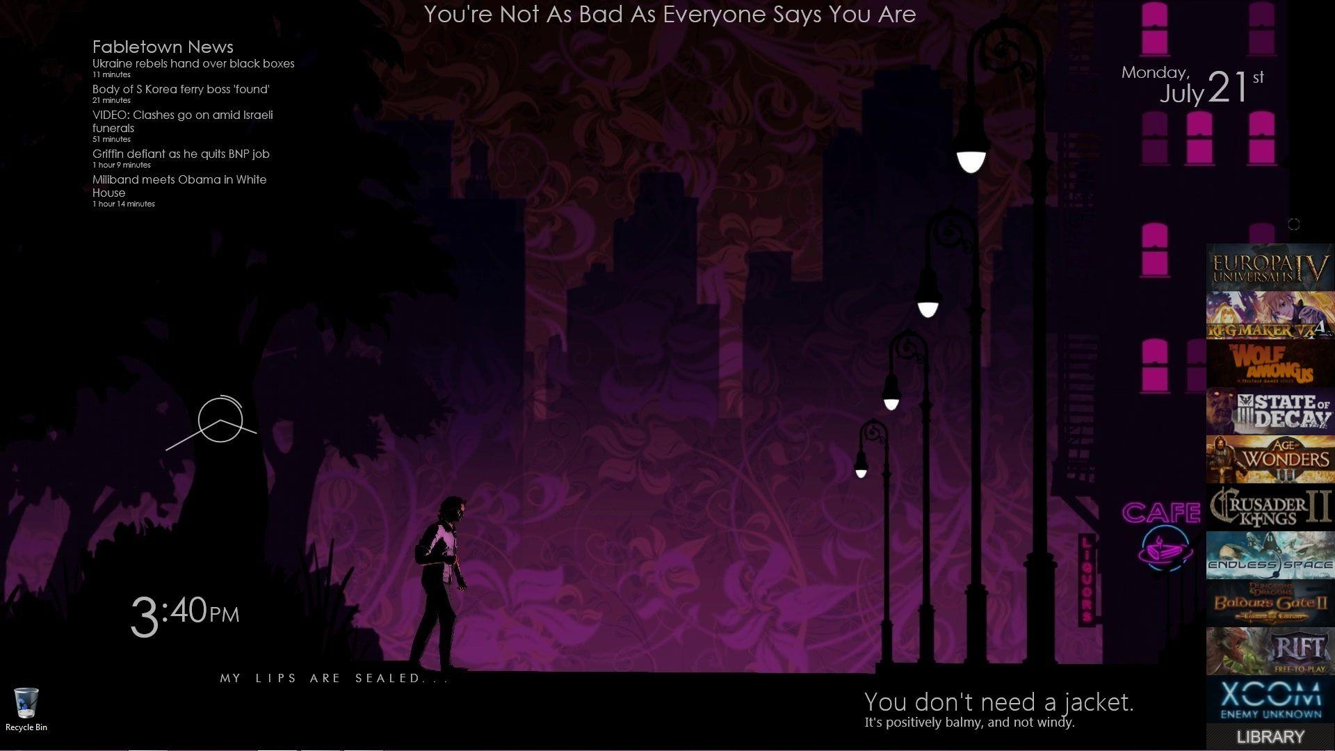 Just found out about Rainmeter and did a Wolf Among Us themed