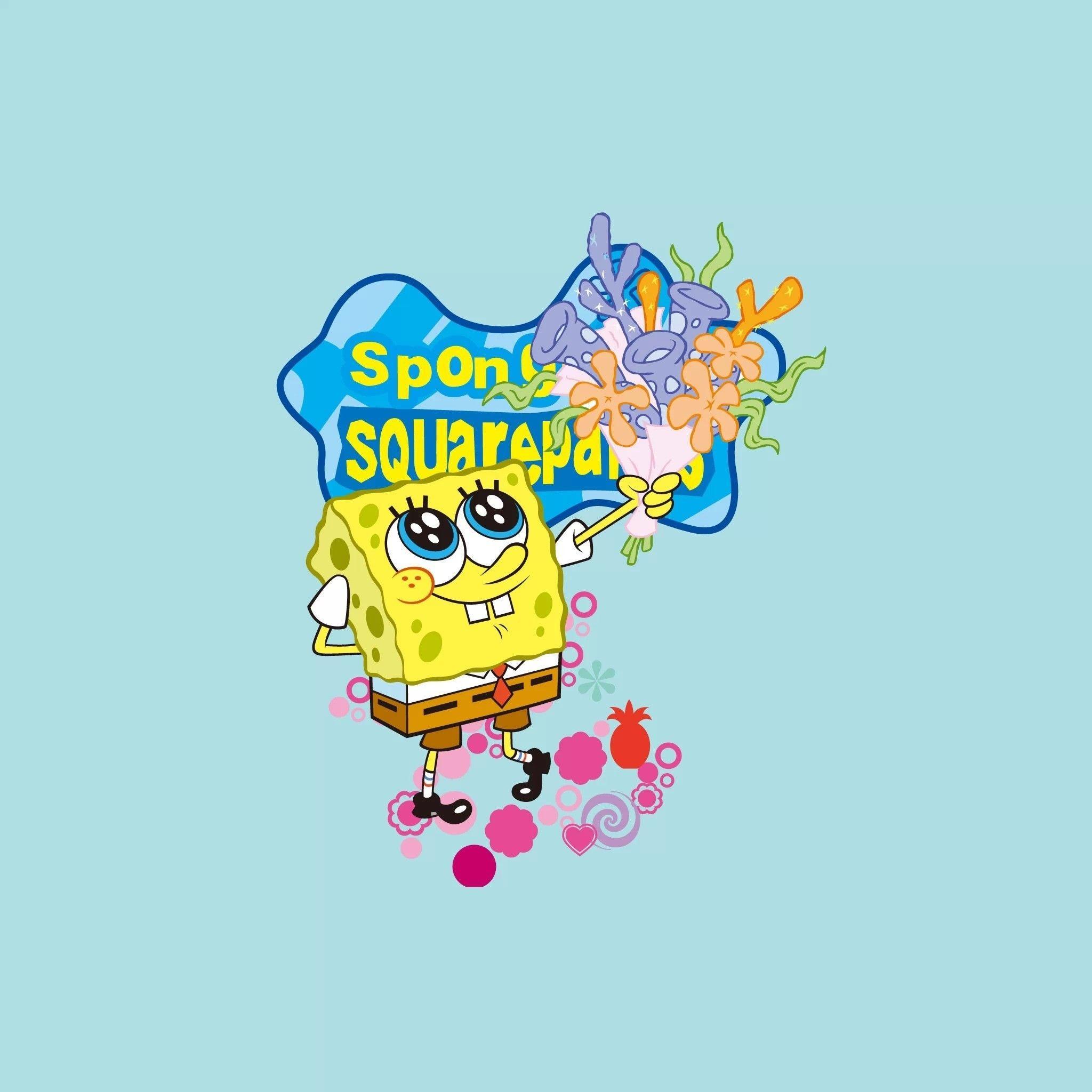 Spongebob Flower Sky Backgrounds - Wallpaper Cave