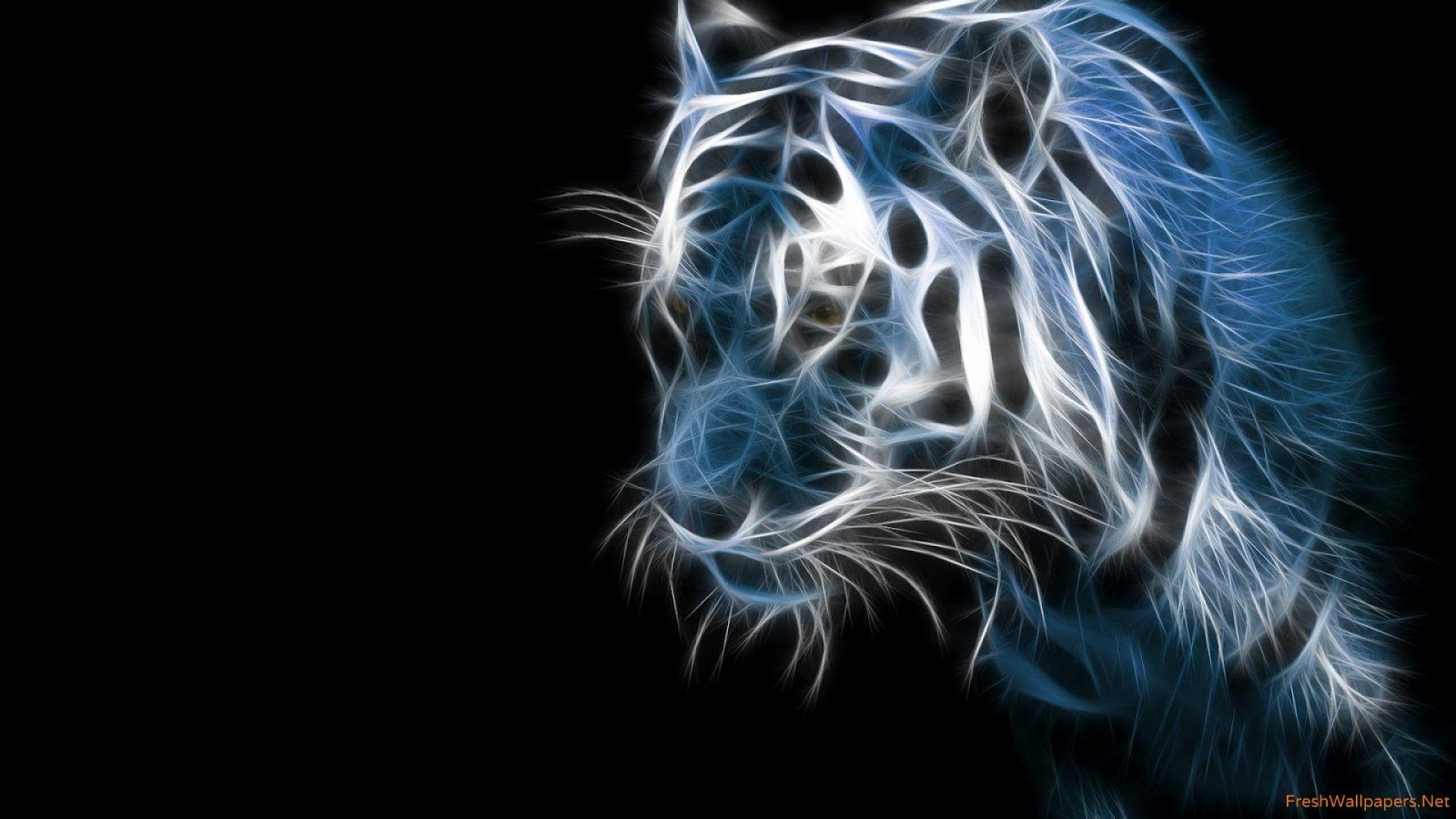 white tiger 4d wallpapers | Freshwallpapers