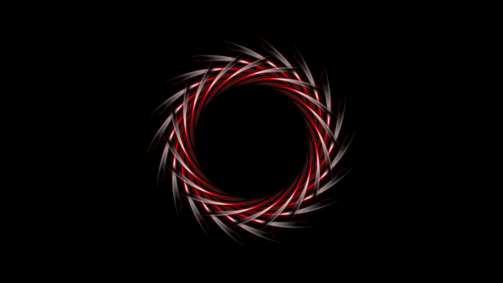 Abstract dark red logo design on black background. Video animation ...