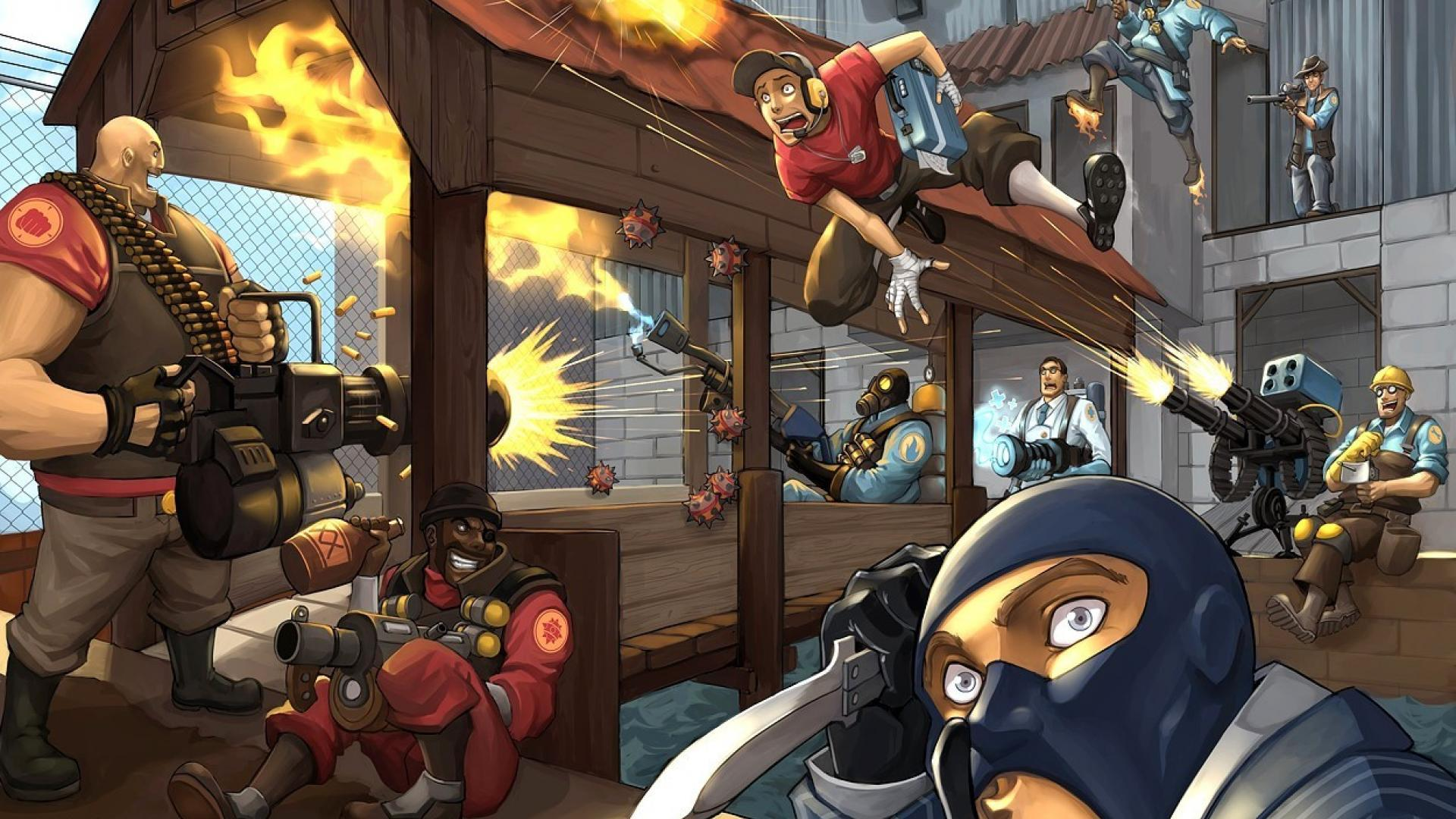 Team fortress 2 backgrounds wallpaper cave - Wallpaper game hd android ...