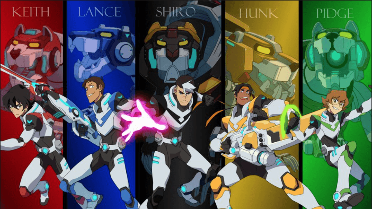 Keith, Lance, Shiro, Hunk and Pidge the Paladins of Voltron from ...