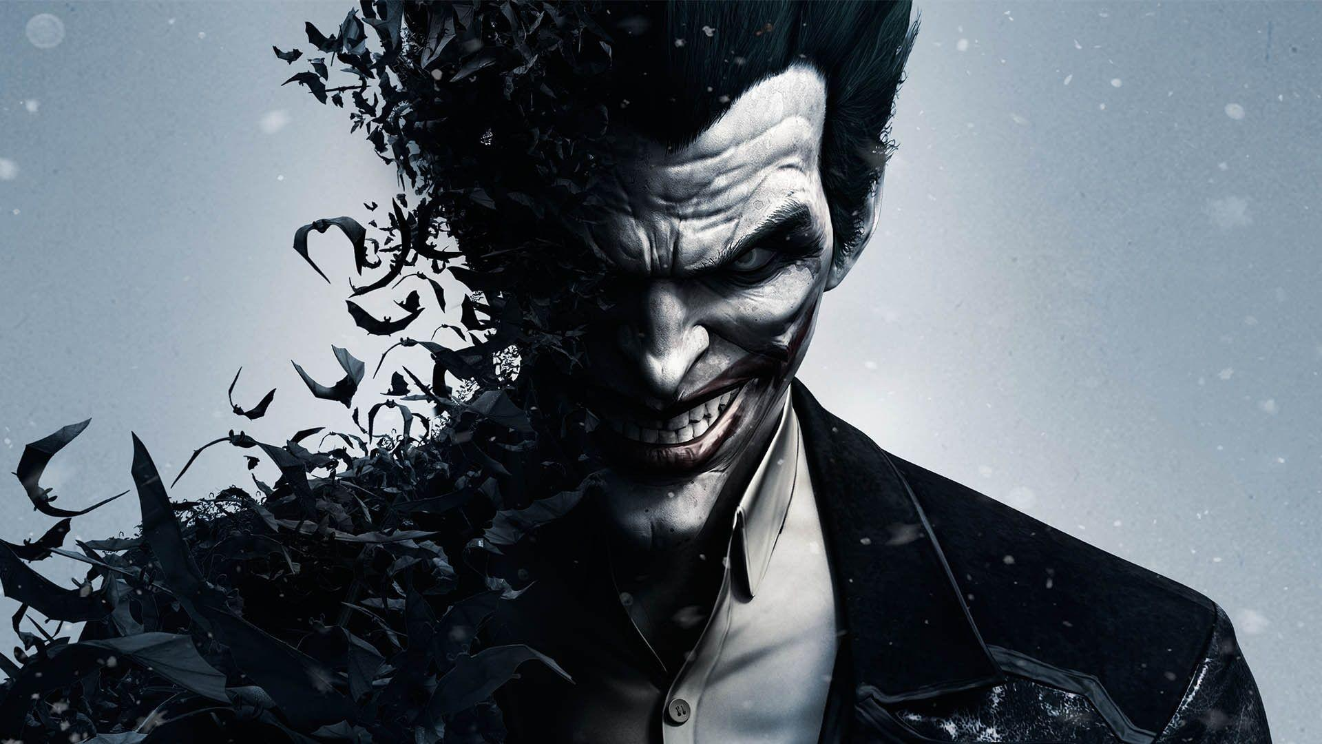 Download HD Batman Arkham Origins Joker Smile And Bats Wallpapers