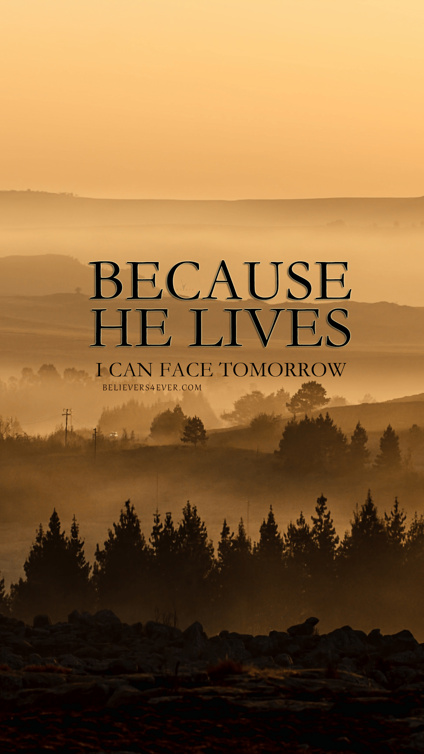 Because He Lives Lock Screen Wallpaper Bible And Verses