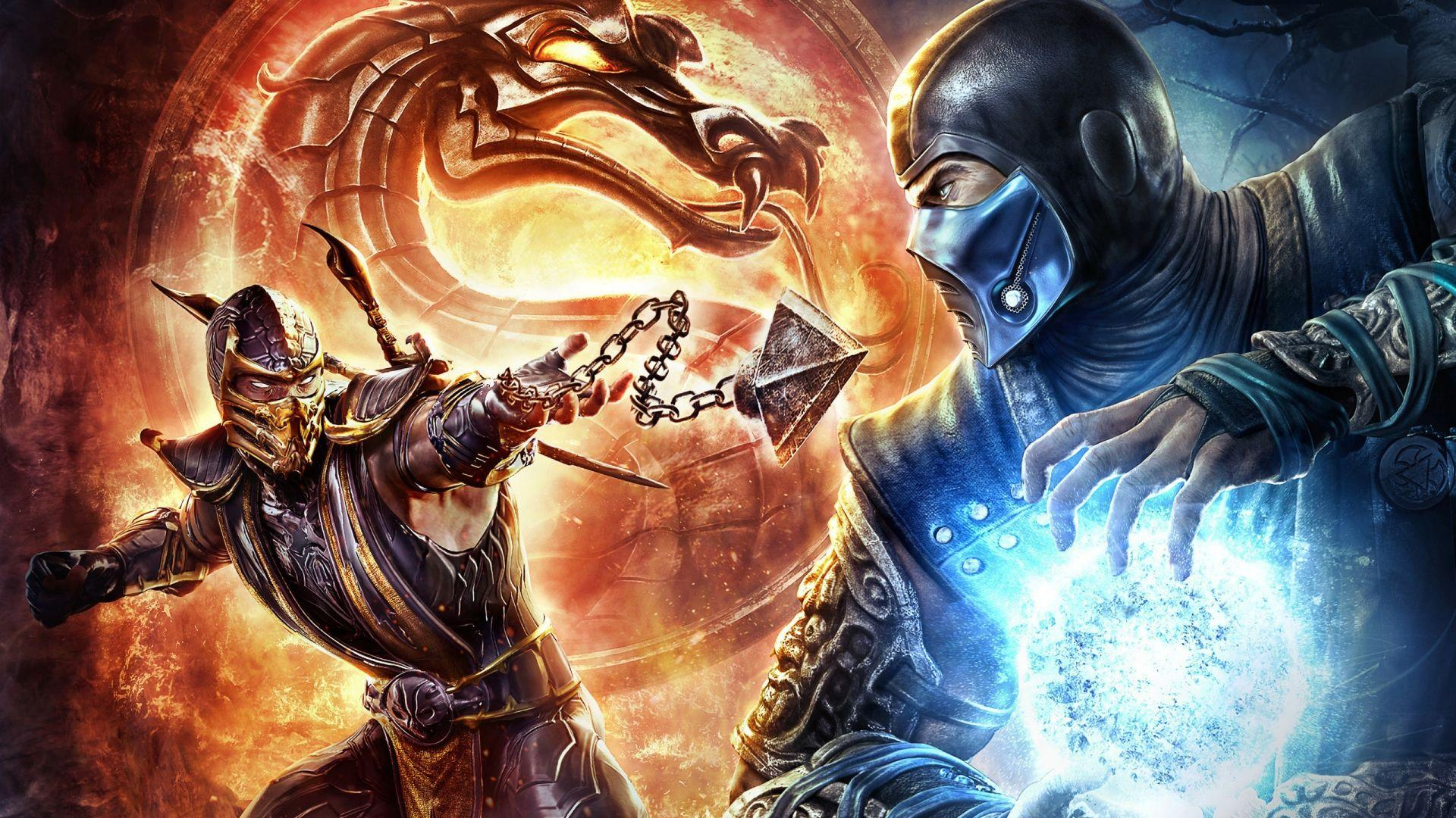 mortal kombat scorpion vs sub zero wallpaper