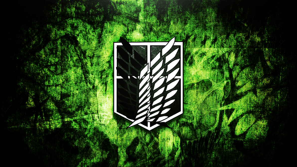 Attack On Titan Logo Wallpapers Wallpaper Cave