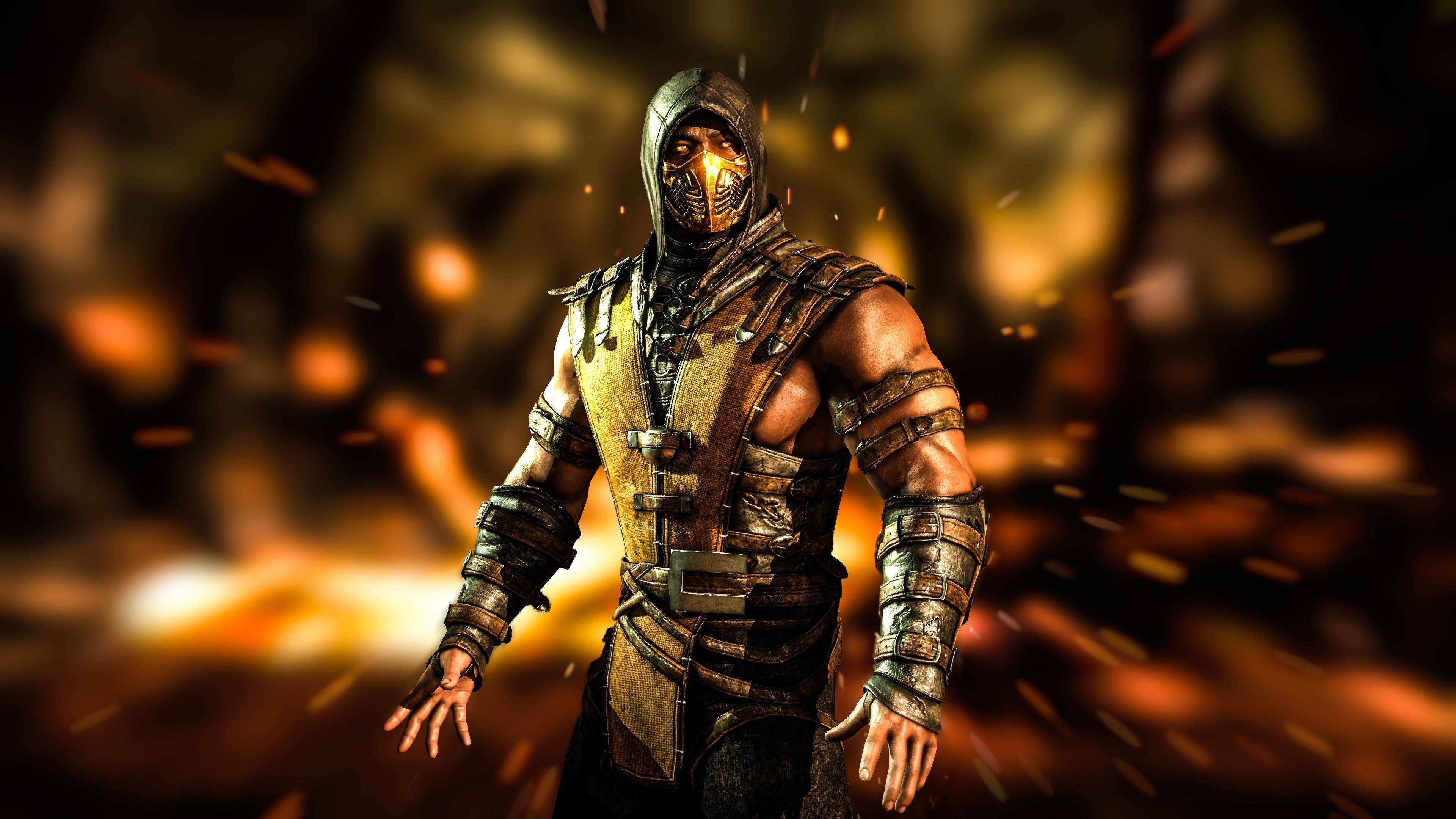 Mortal Kombat X Scorpion Wallpapers HD Desktop WIdescreen