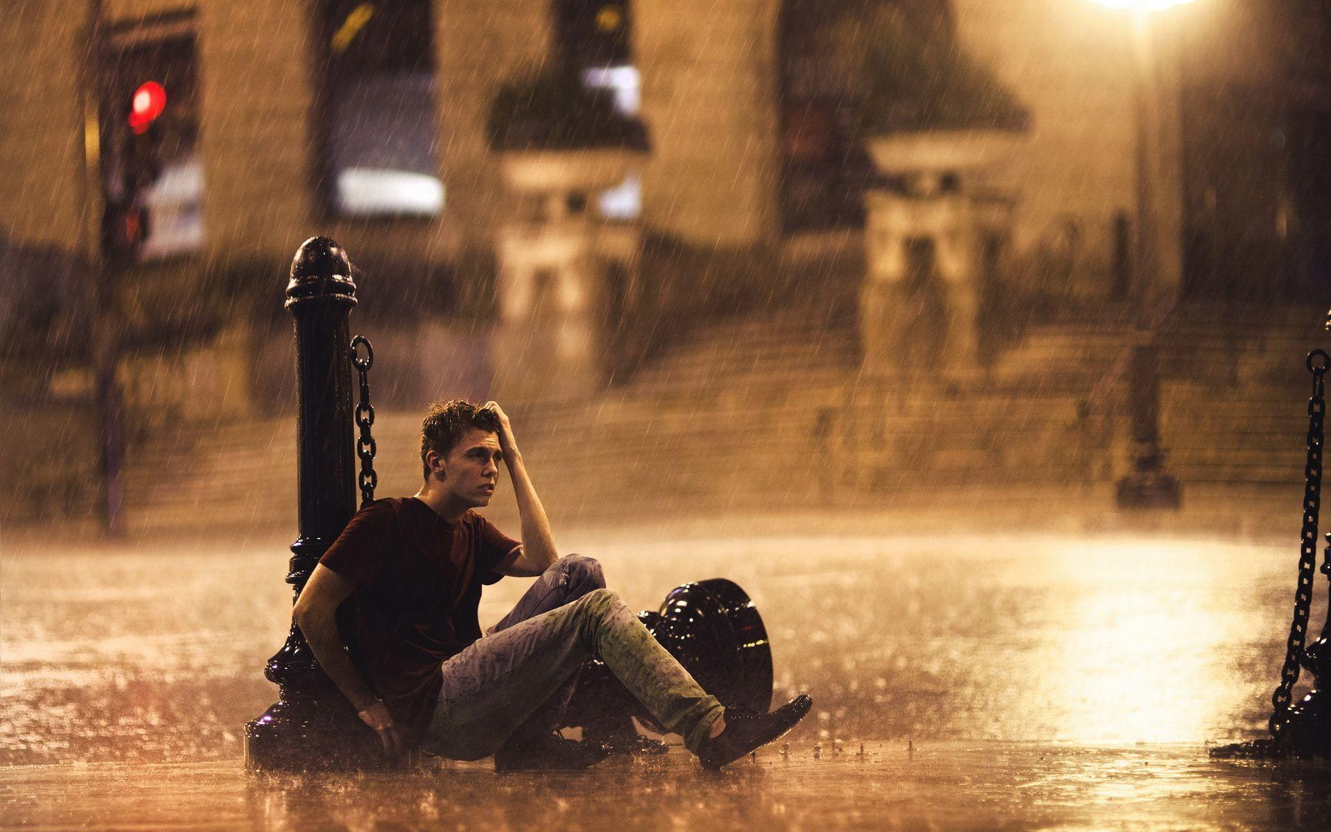 Sad boy in rain hd wallpapers wallpaper cave - Sad man hd wallpaper ...